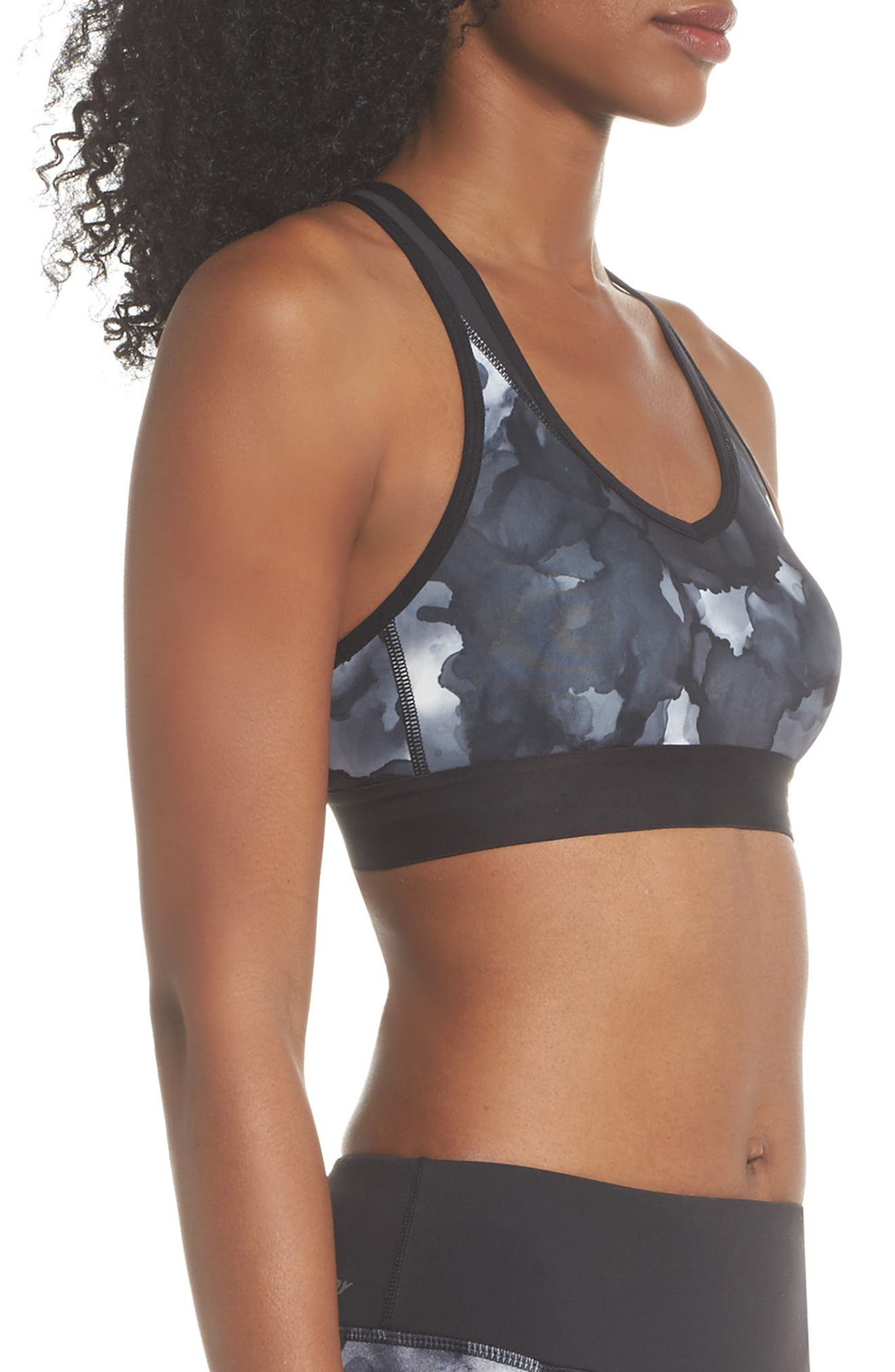 Pace Print Sports Bra,                             Alternate thumbnail 3, color,                             035
