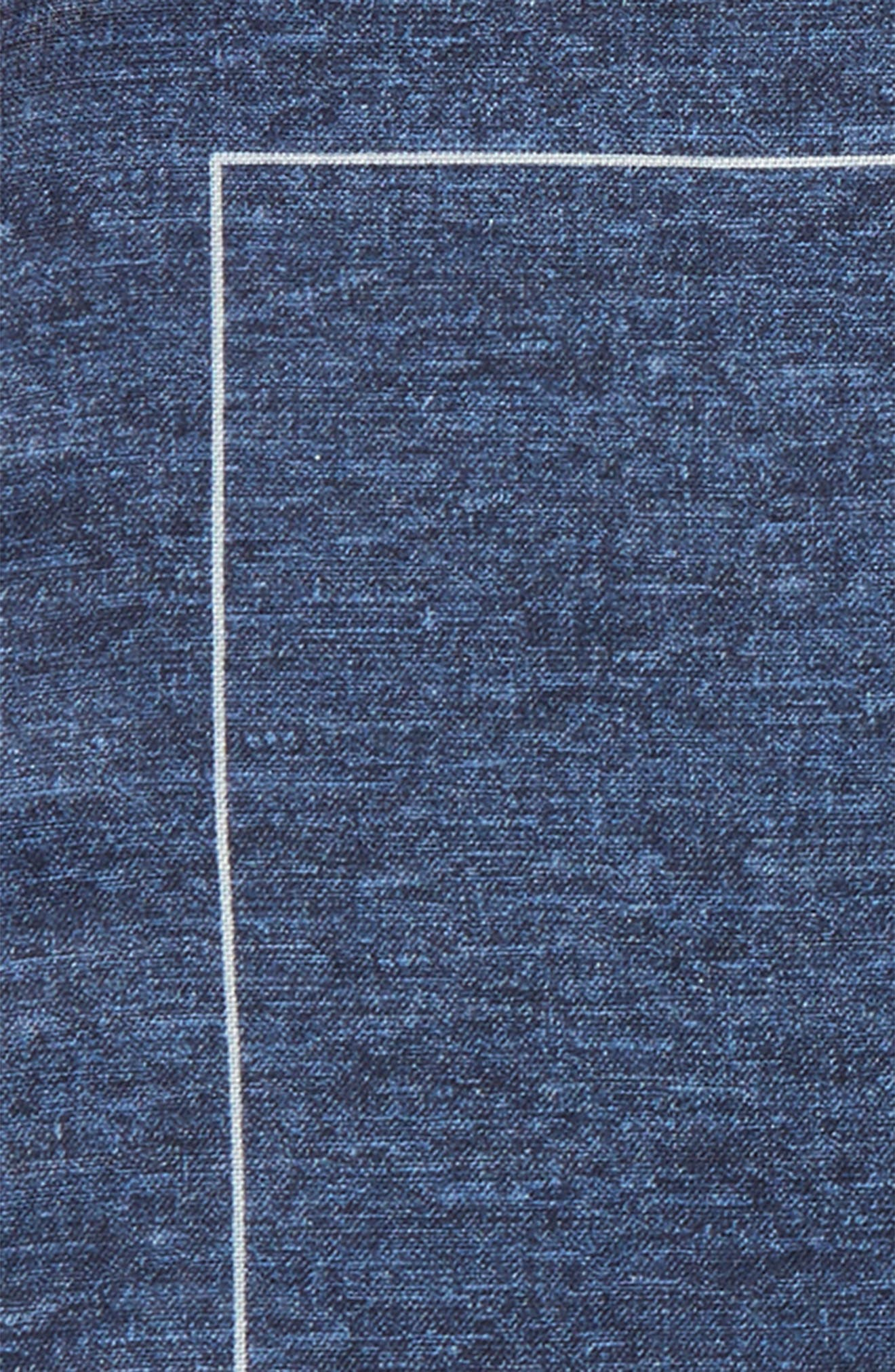Denim Print Silk Pocket Square,                             Alternate thumbnail 3, color,                             410