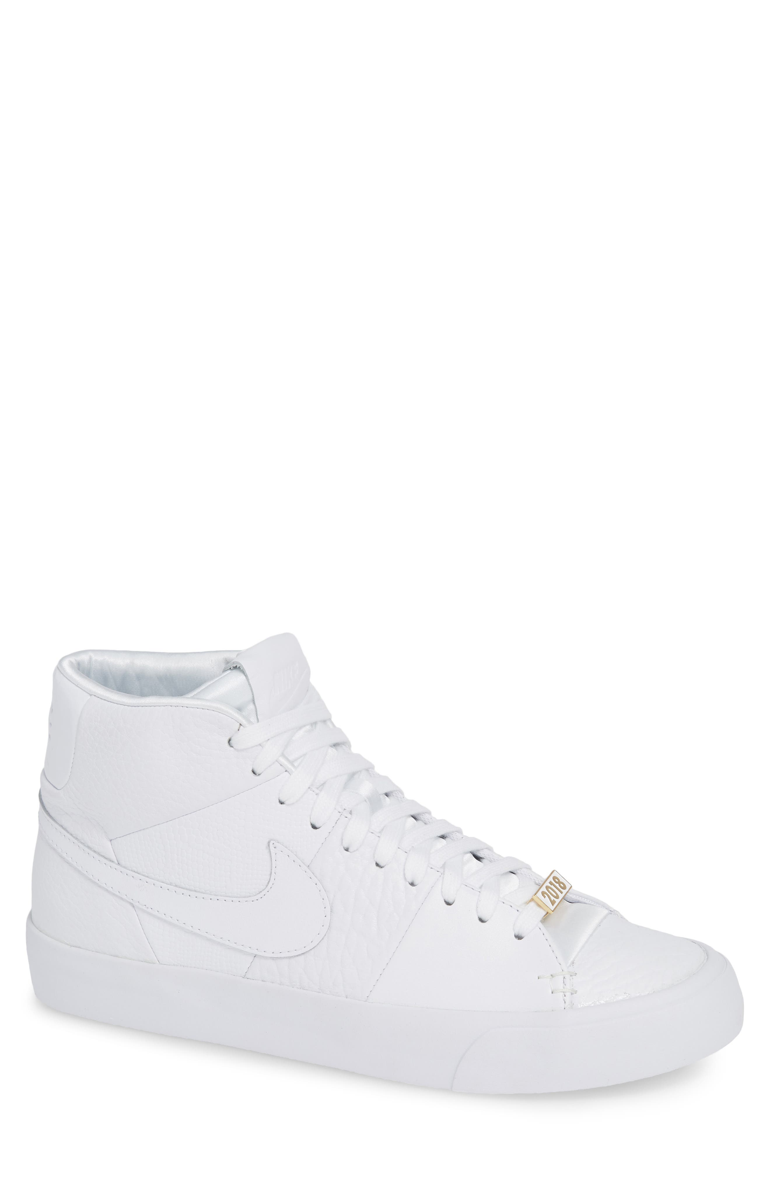 Blazer Royal QS High Top Sneaker,                             Main thumbnail 1, color,                             WHITE/ WHITE/ WHITE