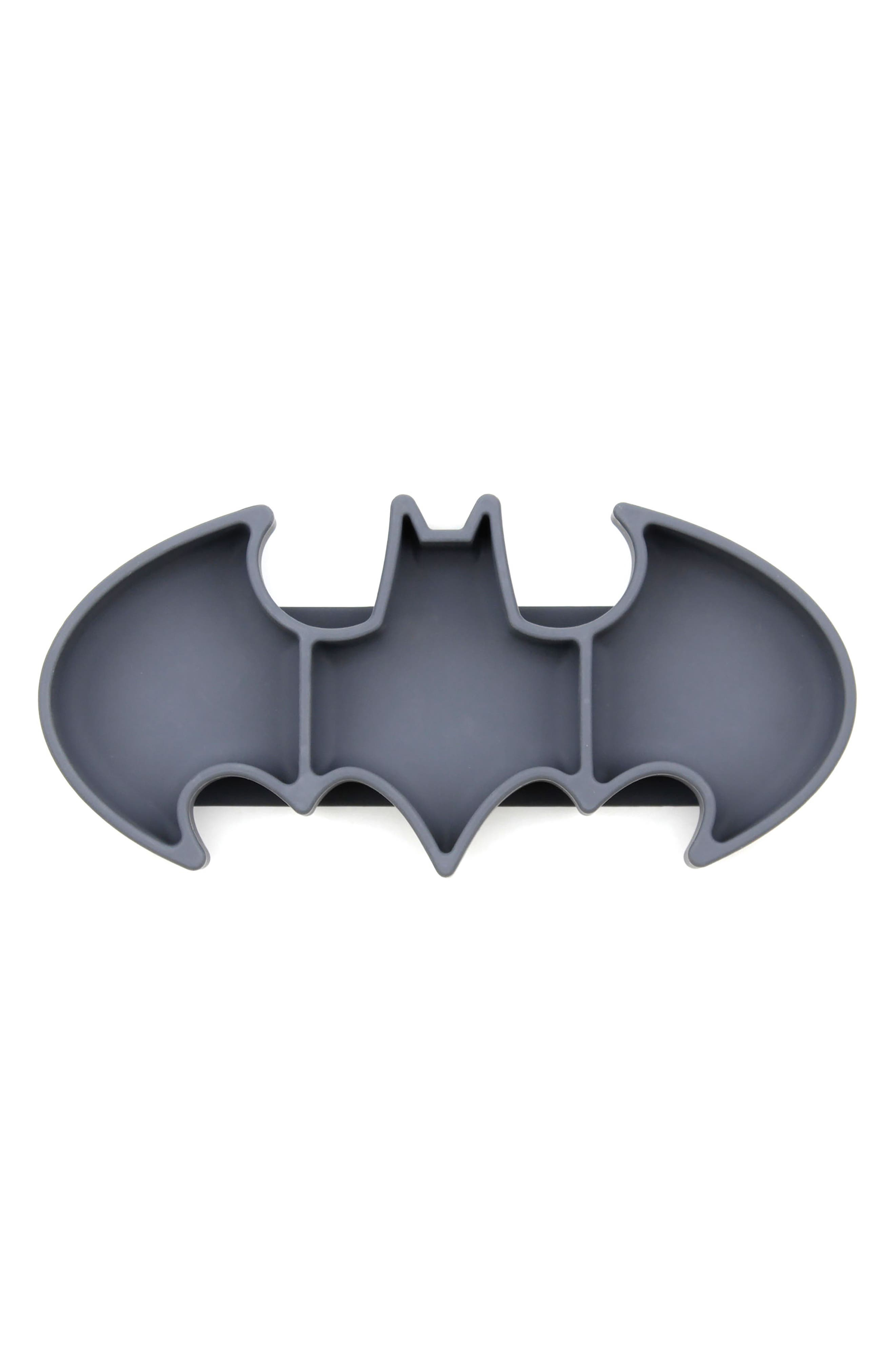 Batman Grip Dish & Caped SuperBib Set,                             Alternate thumbnail 2, color,                             001