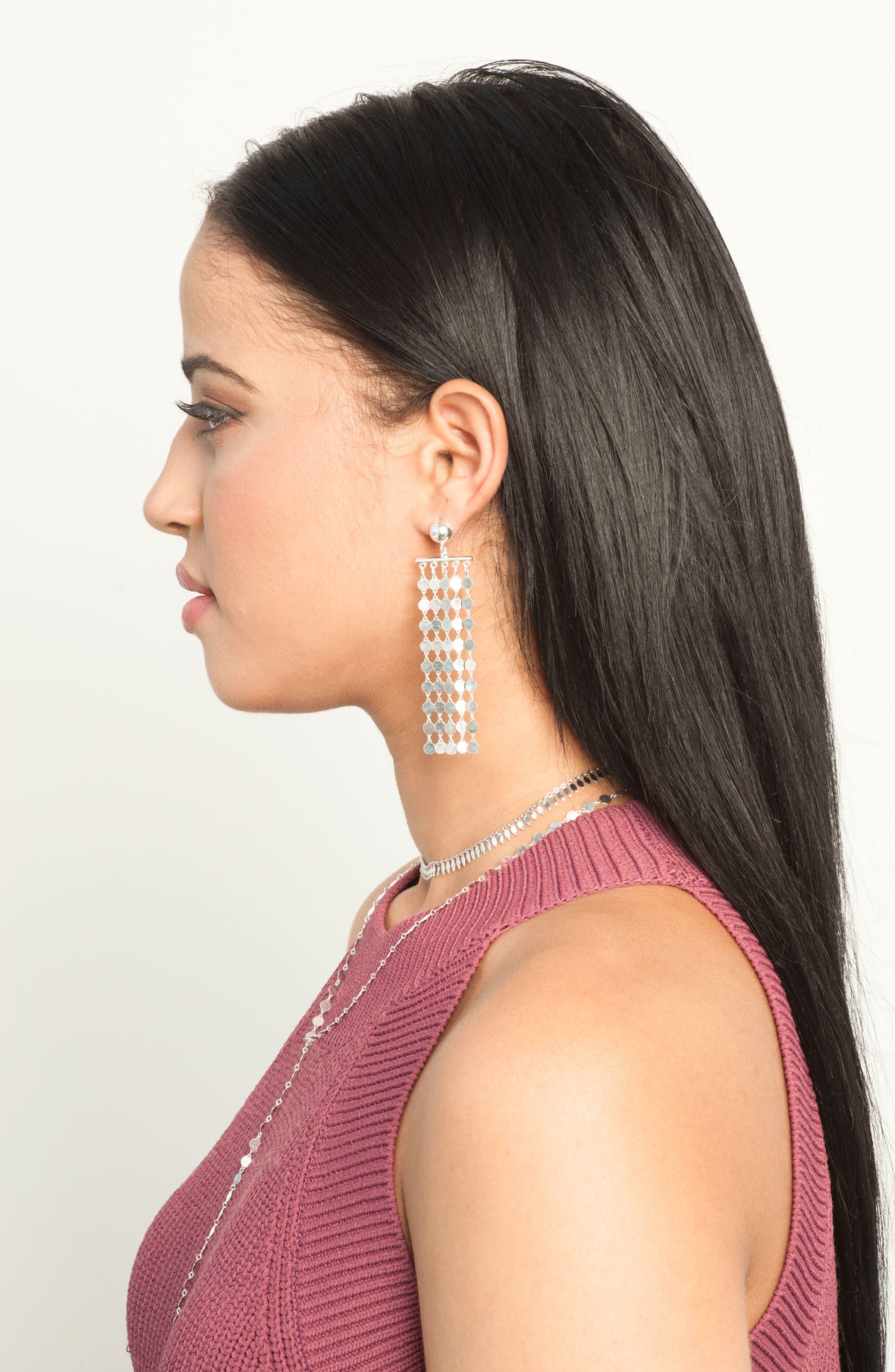 Carmen Fringe Drop Earrings,                             Alternate thumbnail 3, color,                             040