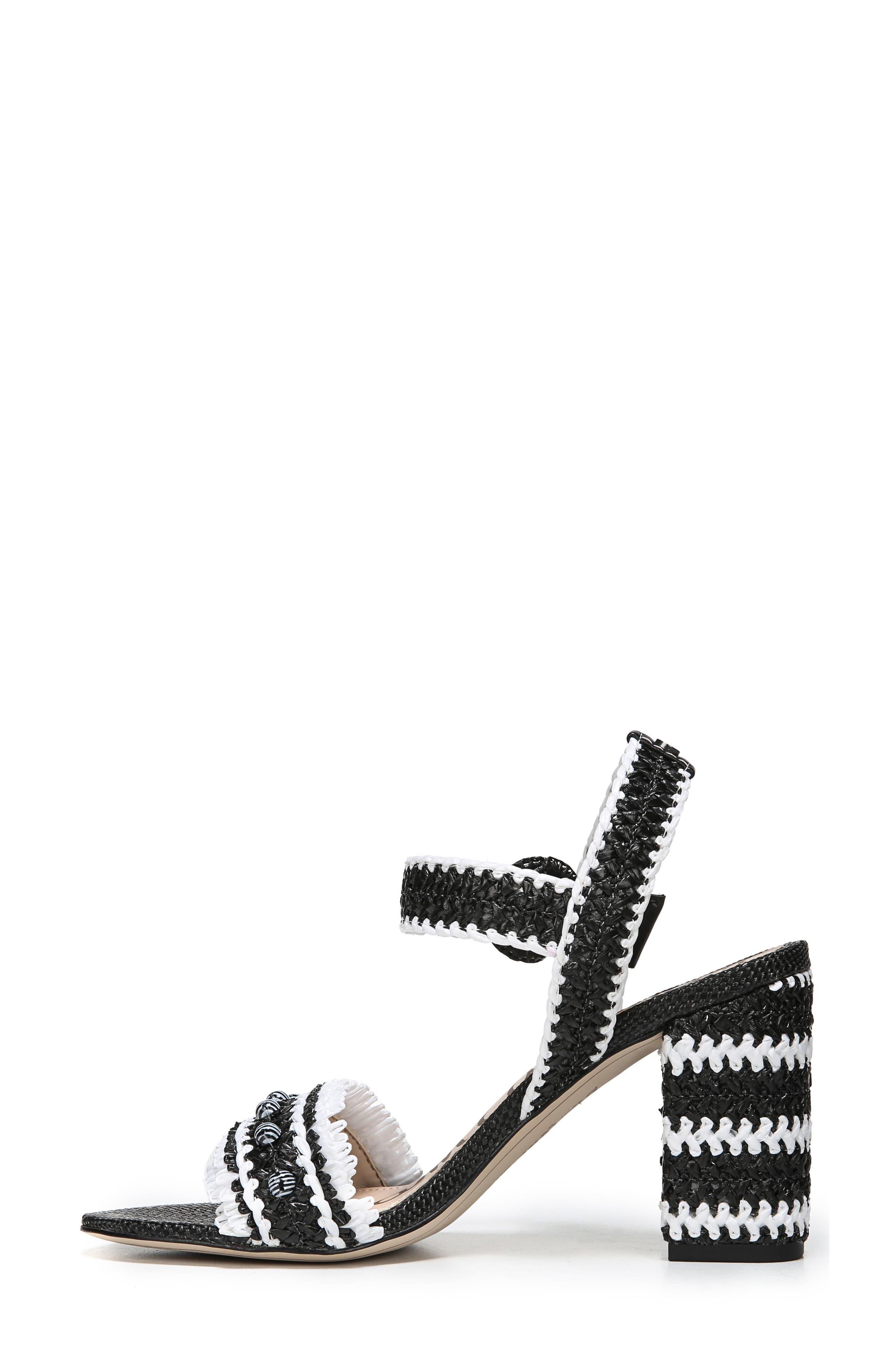 Olisa Block Heel Sandal,                             Alternate thumbnail 3, color,                             001