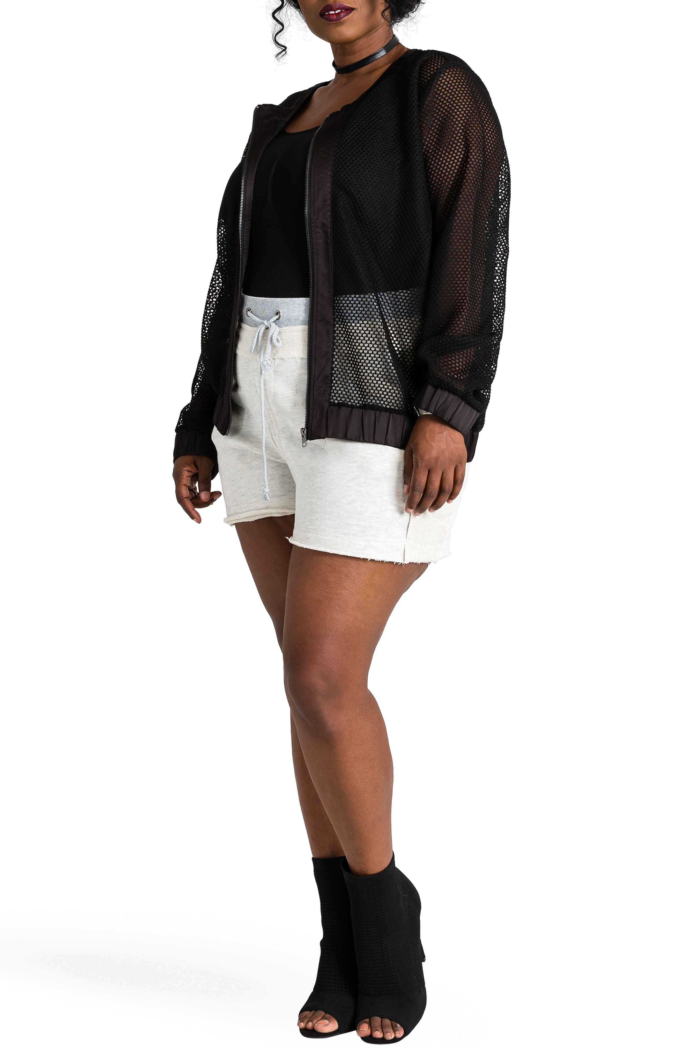 Cassy French Terry Shorts,                             Alternate thumbnail 5, color,                             GREY