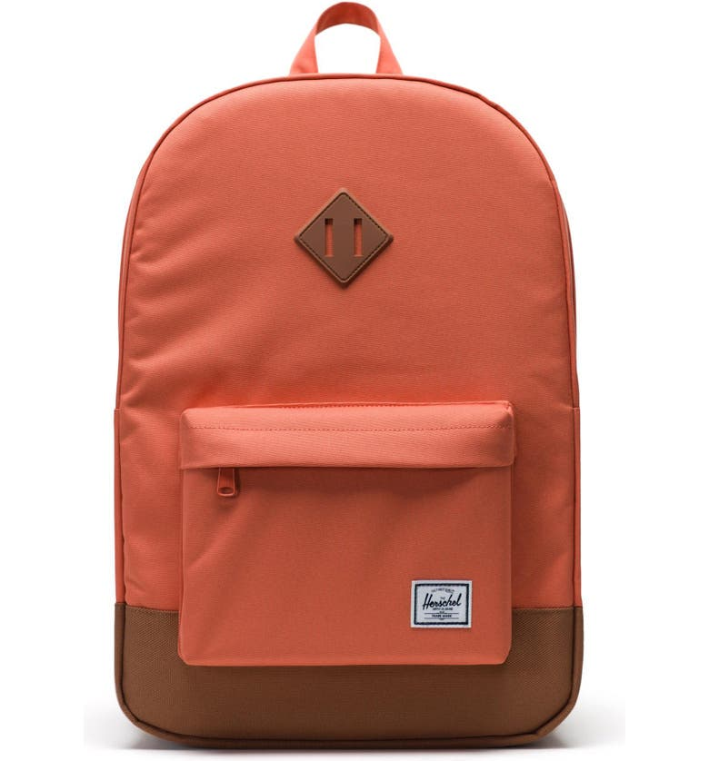 HERSCHEL SUPPLY CO. Heritage Backpack, Main, color, APRICOT BRANDY/ SADDLE BROWN