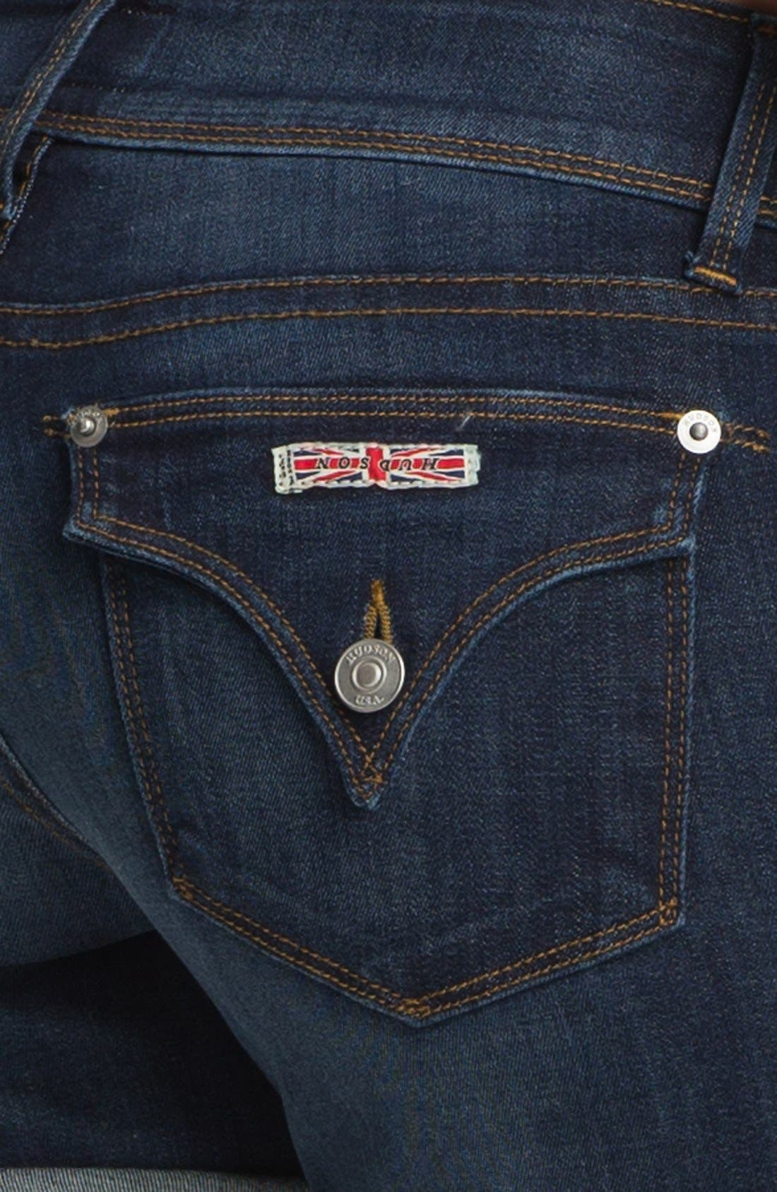 'Croxley' Cuff Denim Shorts,                             Alternate thumbnail 3, color,                             404