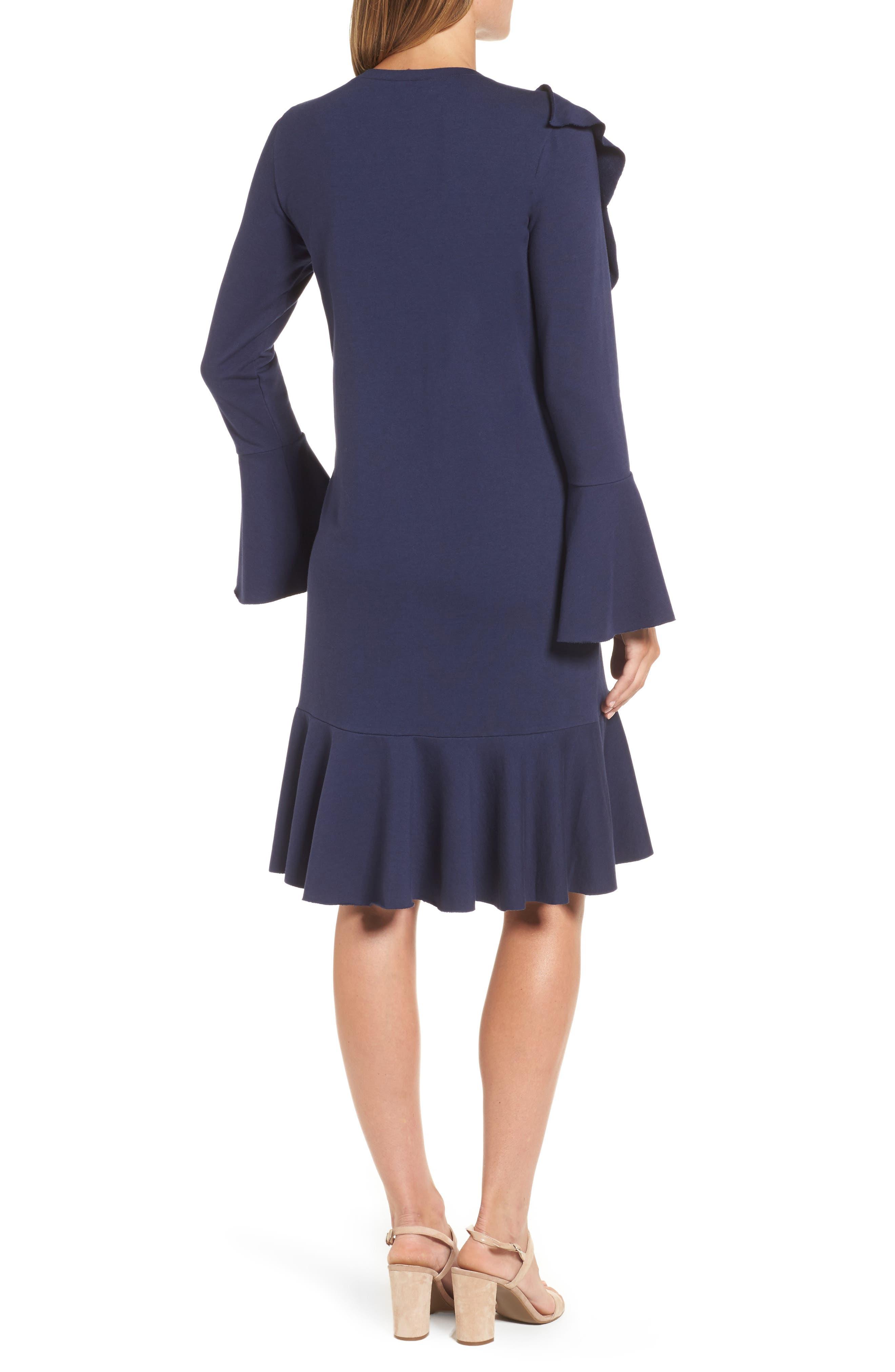 Ruffle Detail Knit Dress,                             Alternate thumbnail 6, color,
