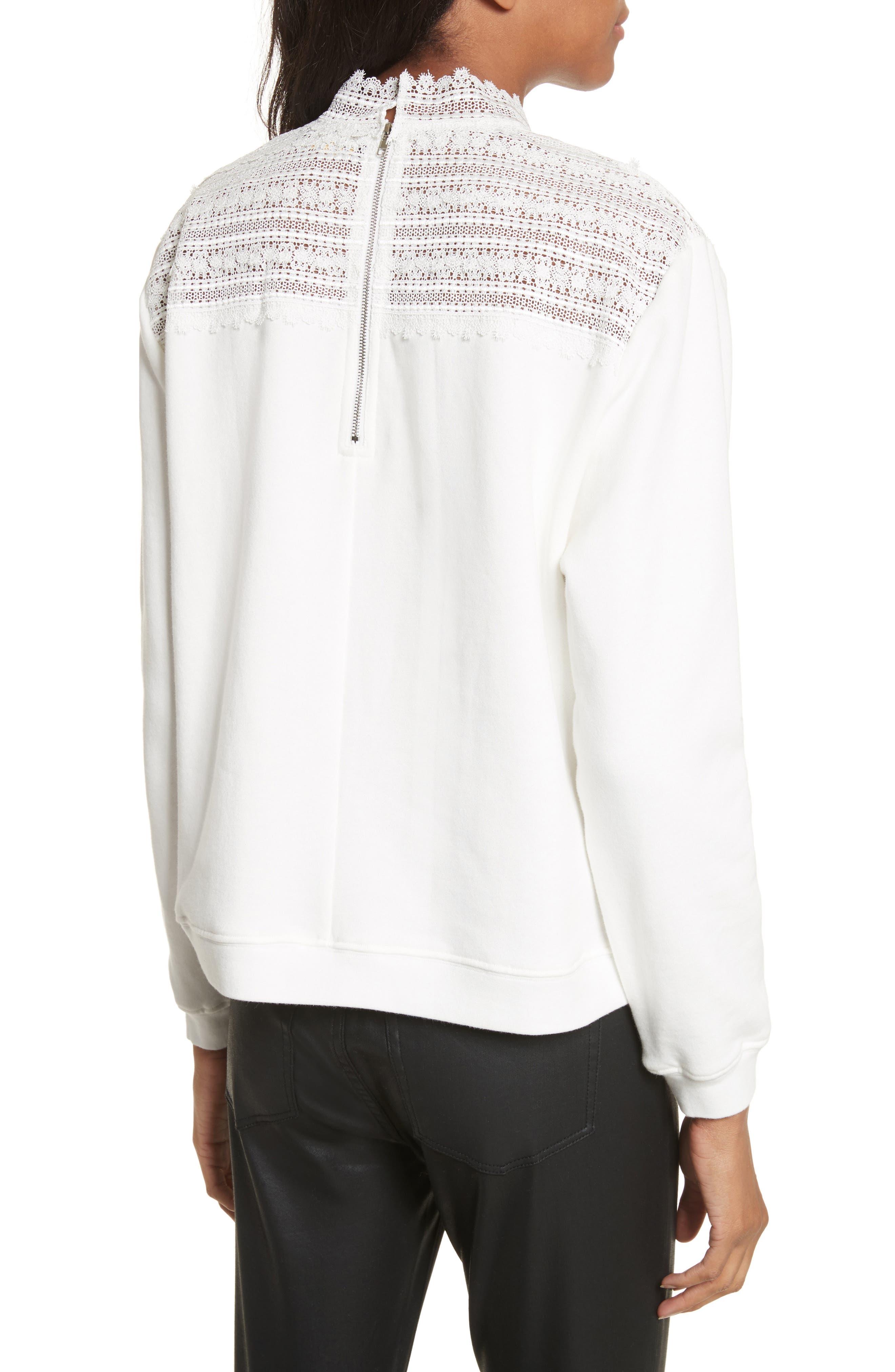 Lace Yoke Sweater,                             Alternate thumbnail 2, color,                             900