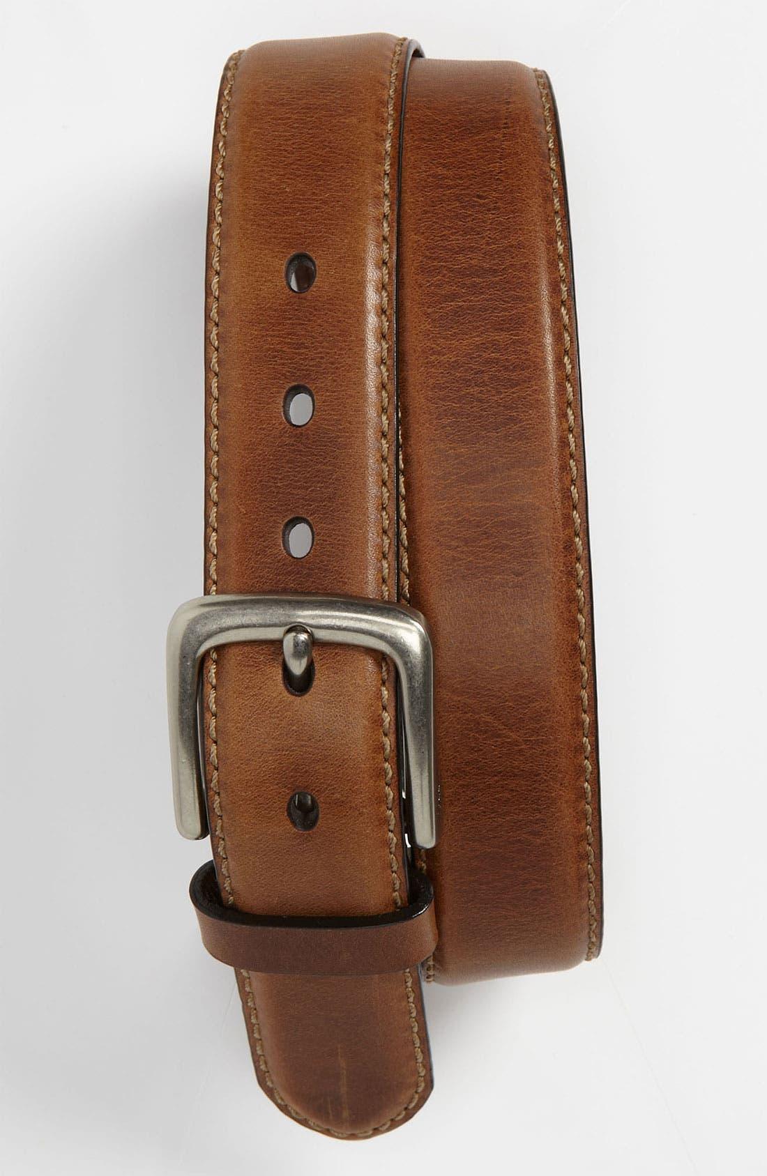 'Aiden' Leather Belt,                             Main thumbnail 1, color,                             200