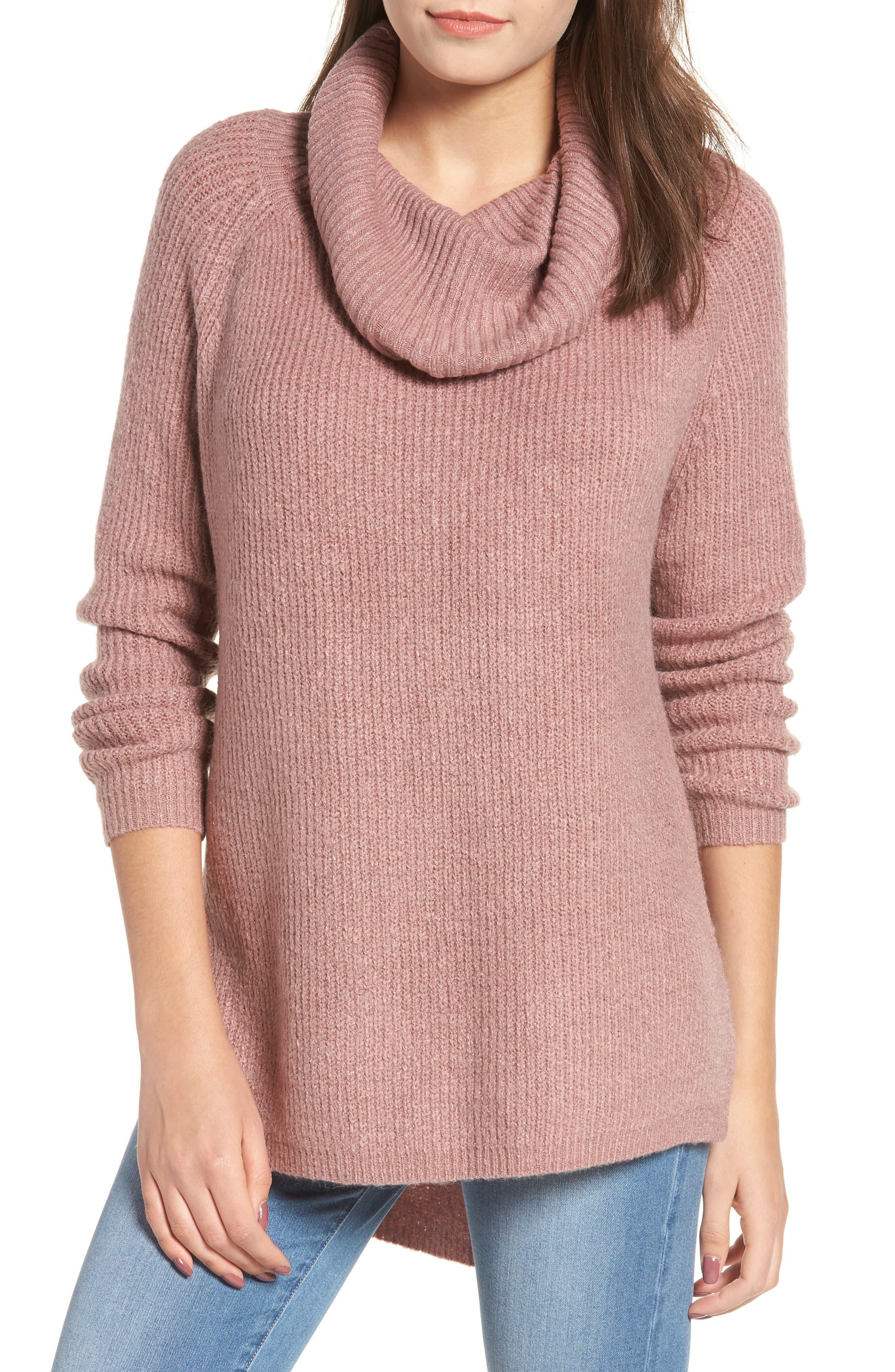 Cowl Neck Sweater,                             Main thumbnail 1, color,                             500