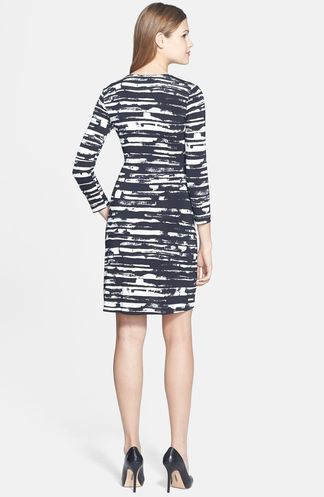 'Adele' Print Matte Jersey Wrap Dress,                             Alternate thumbnail 3, color,                             003