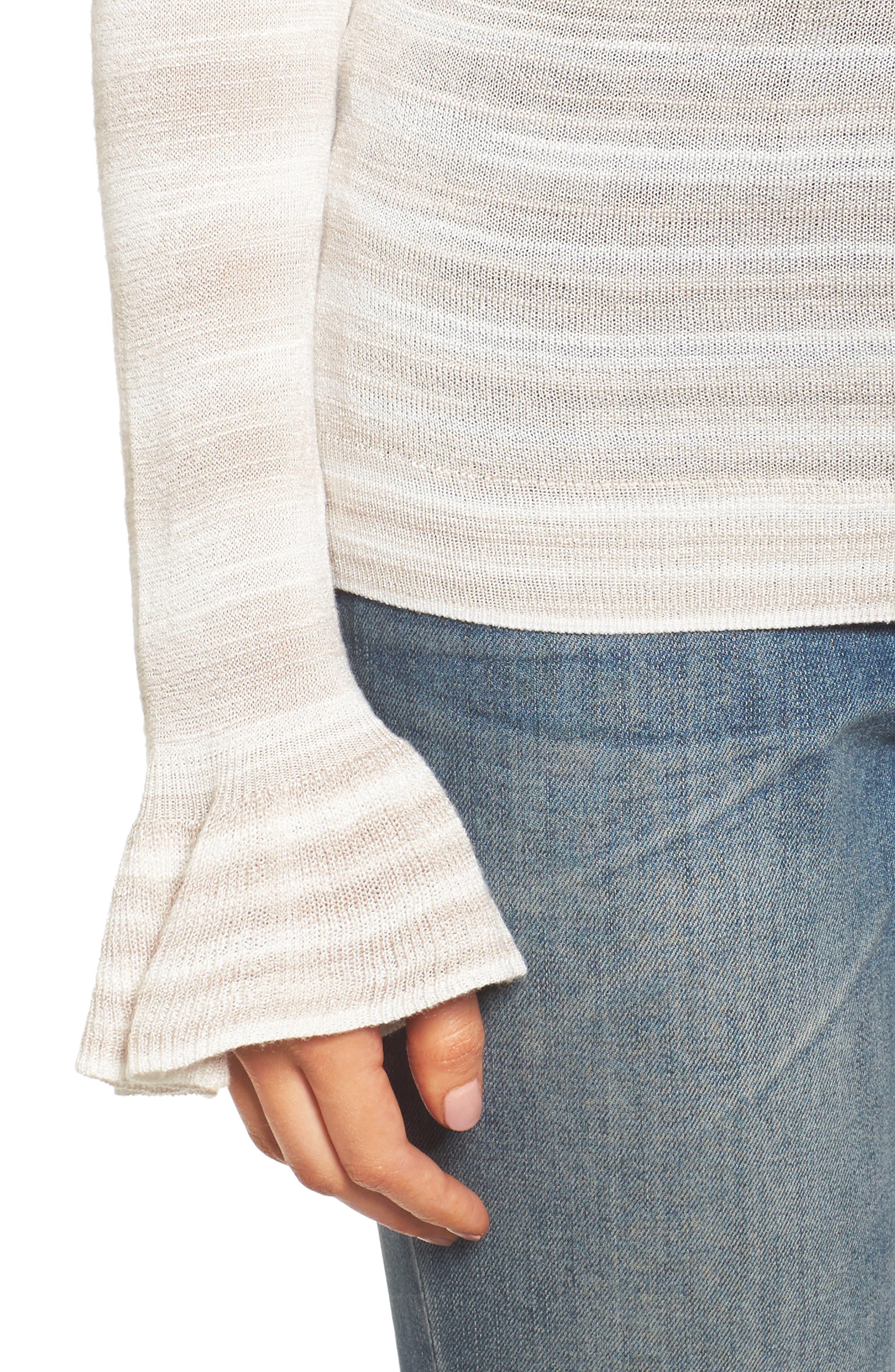 Gradient Stripe Sweater,                             Alternate thumbnail 4, color,                             250