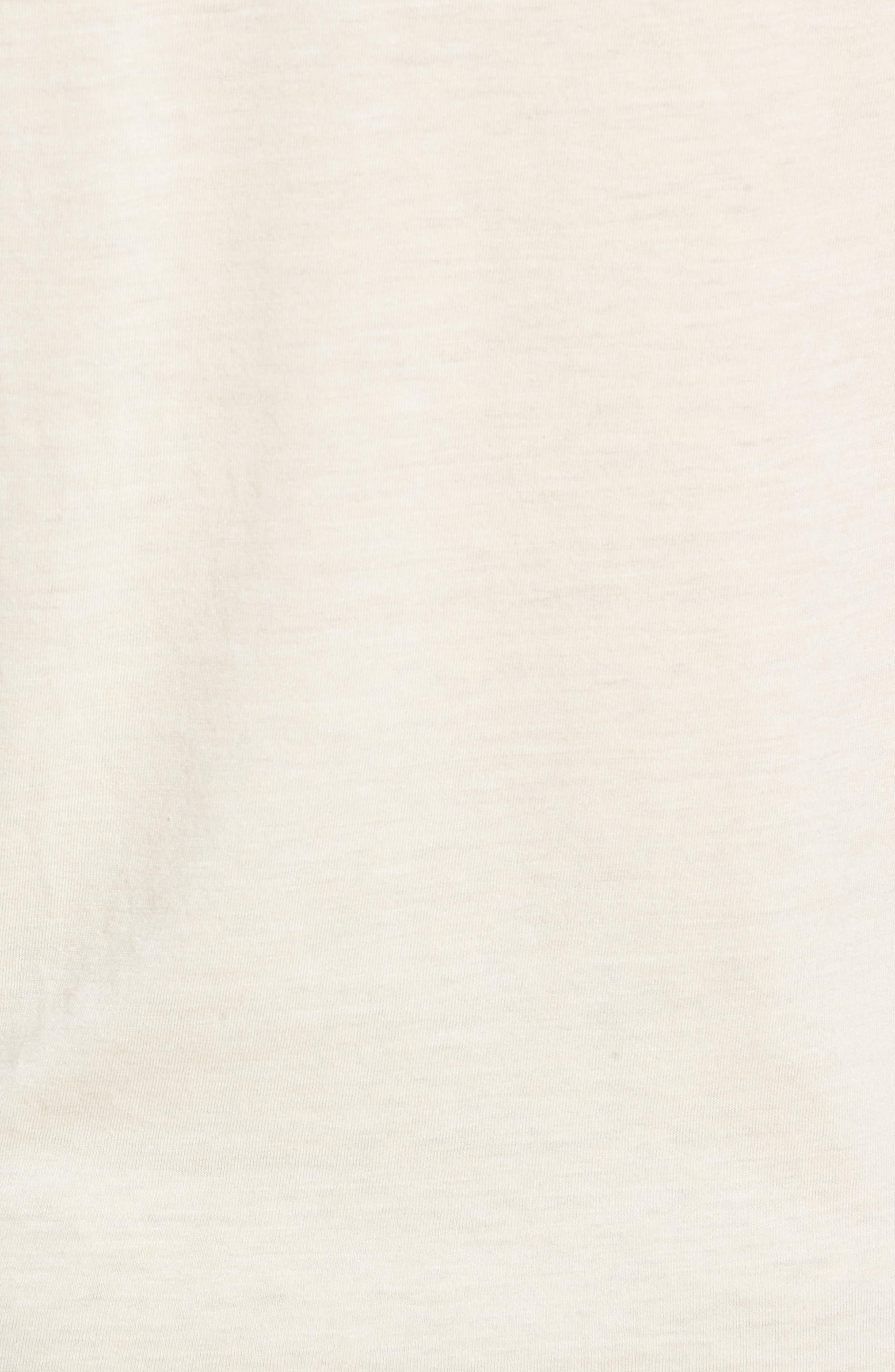 Scallop Triblend V-Neck T-Shirt,                             Alternate thumbnail 5, color,                             OYSTER