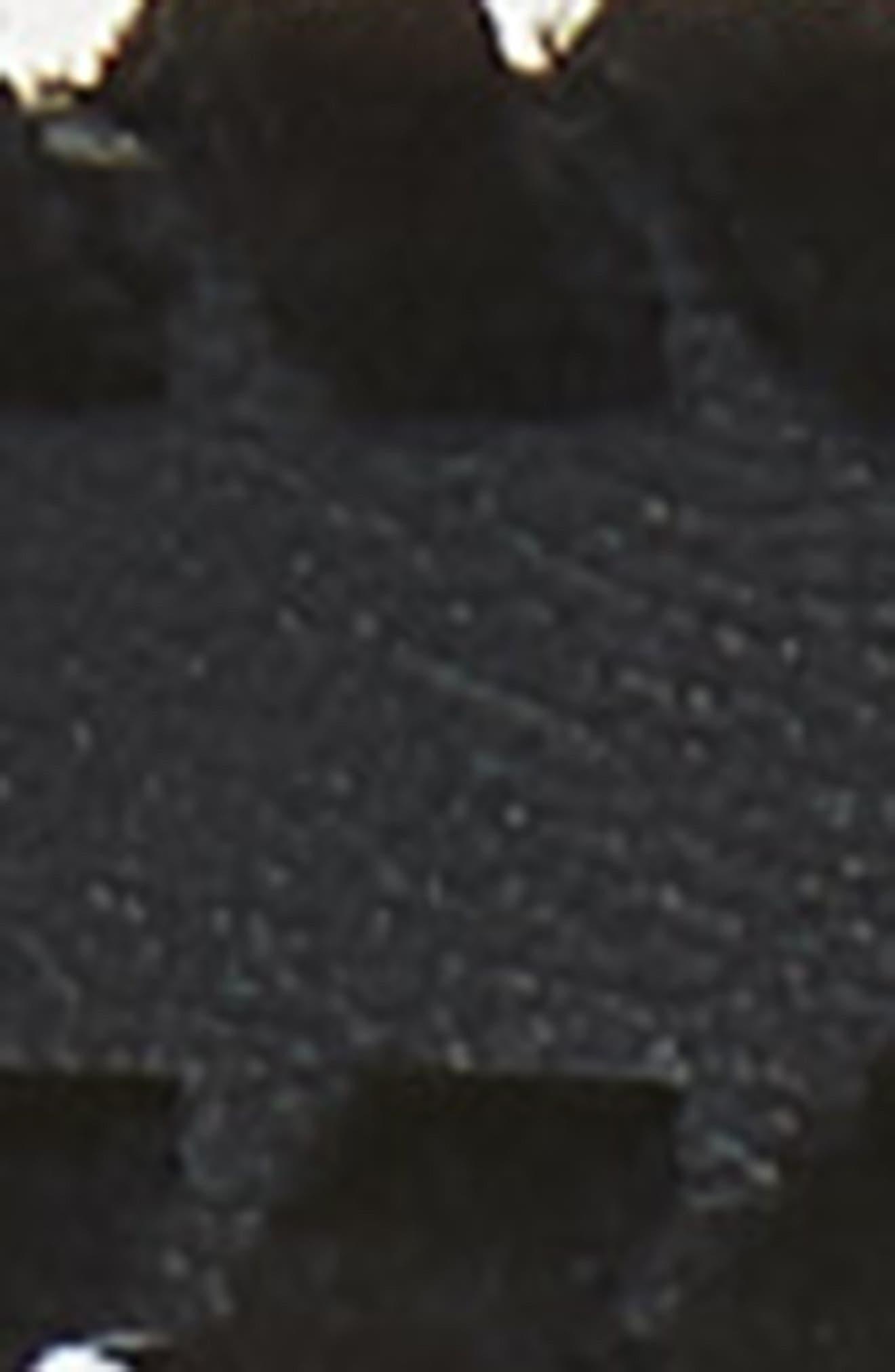 Whipstitch Leather Belt,                             Alternate thumbnail 3, color,                             BLACK/ NICKEL