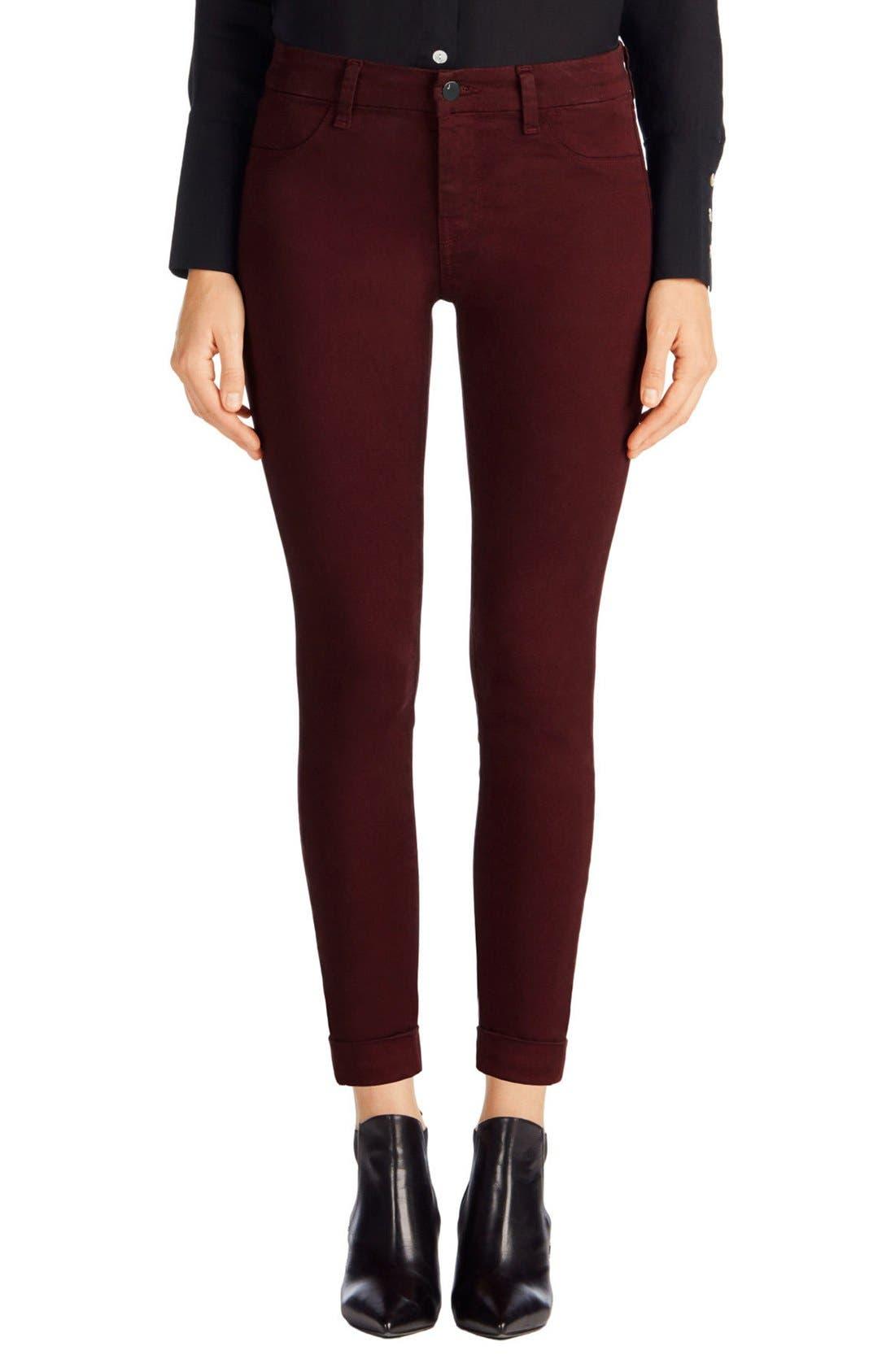 'Anja' Cuffed Crop Skinny Jeans,                             Main thumbnail 7, color,
