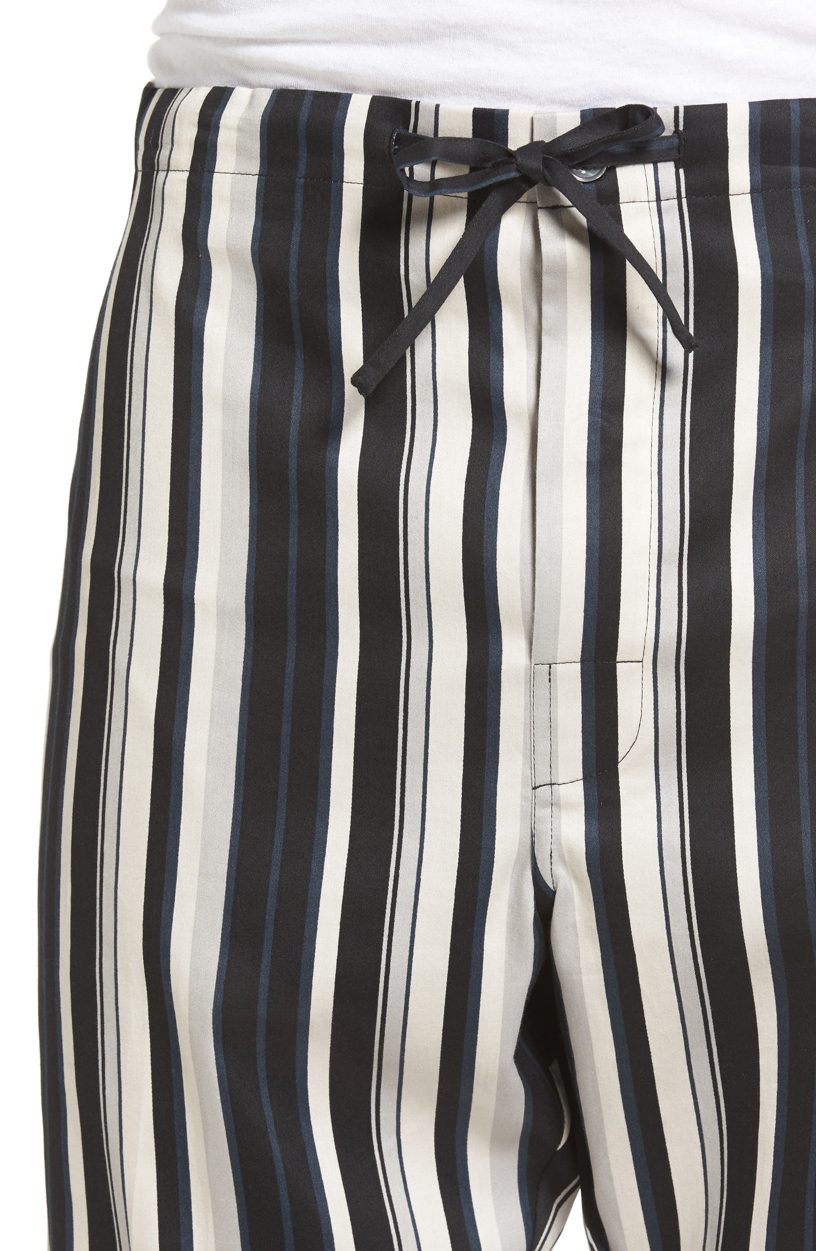 Winslow Pajama Set,                             Alternate thumbnail 4, color,                             BLACK STRIPE