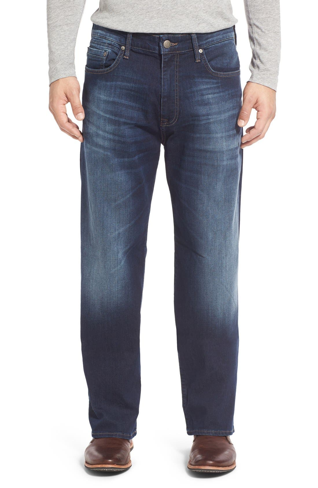 'Max' Relaxed Fit Jeans,                             Alternate thumbnail 10, color,                             DARK WILLIAMSBURG