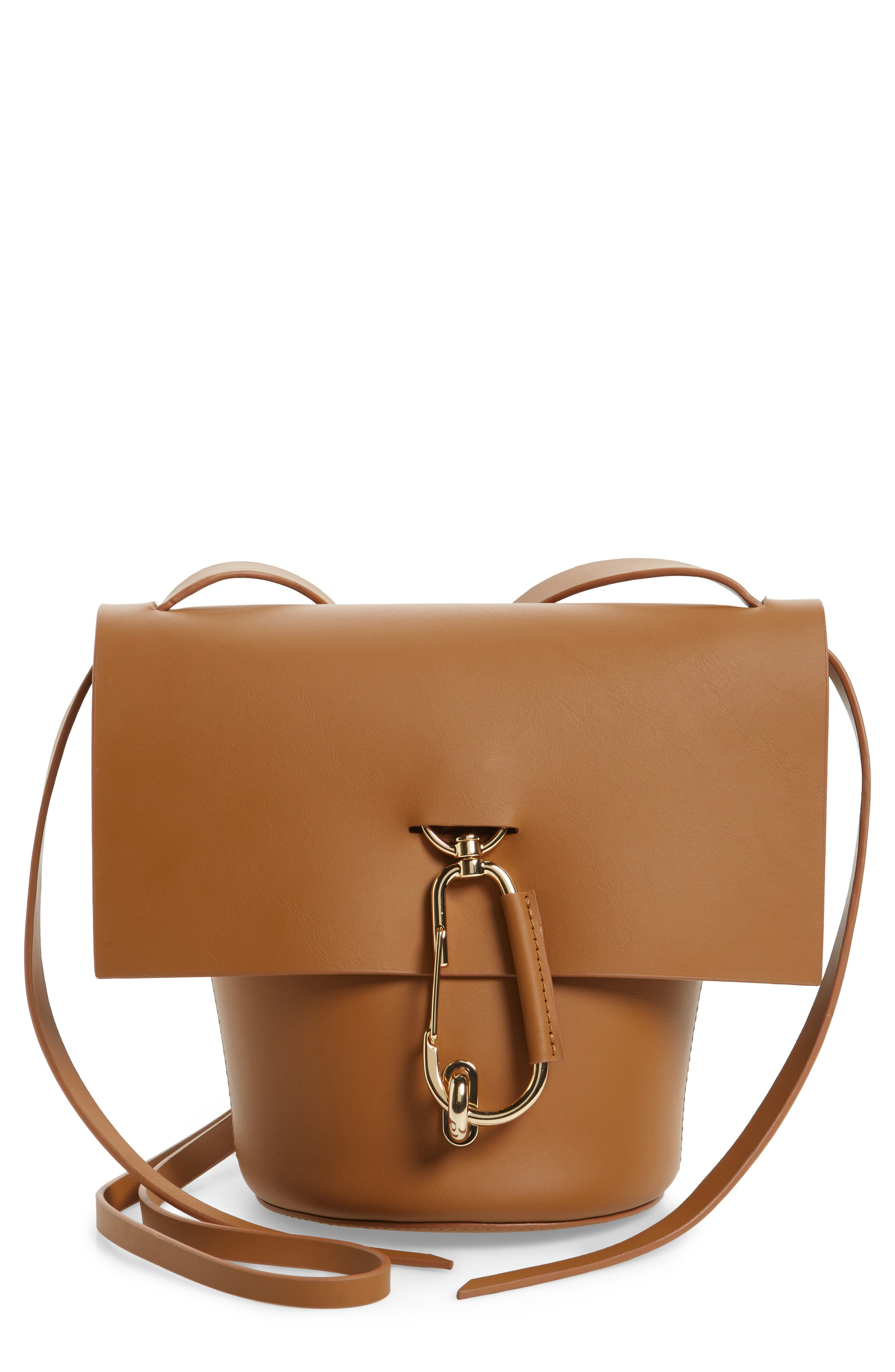 Belay Leather Crossbody Bag,                         Main,                         color, CAMEL