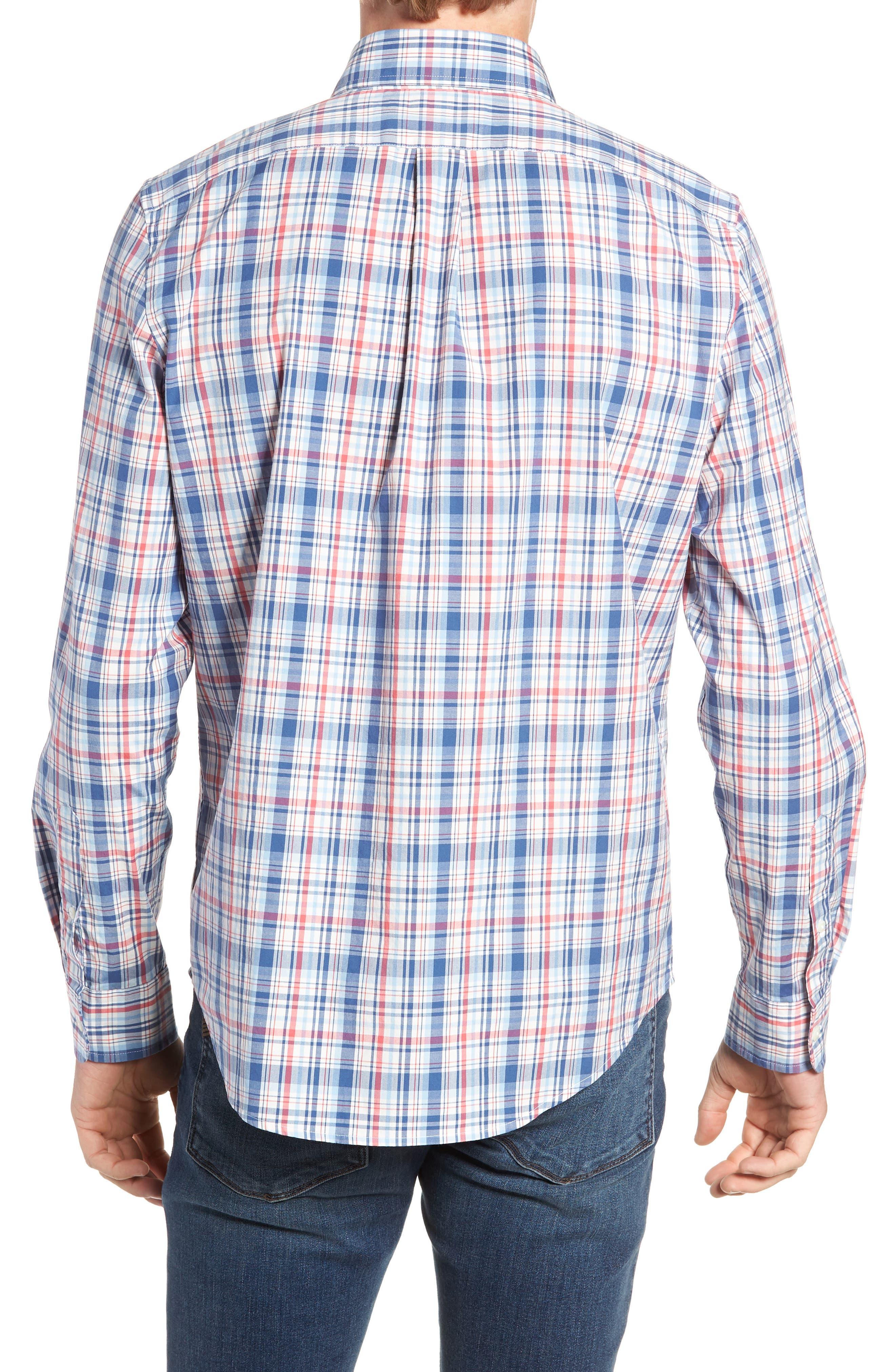 Duke's County Slim Fit Plaid Shirt,                             Alternate thumbnail 3, color,                             MOONSHINE