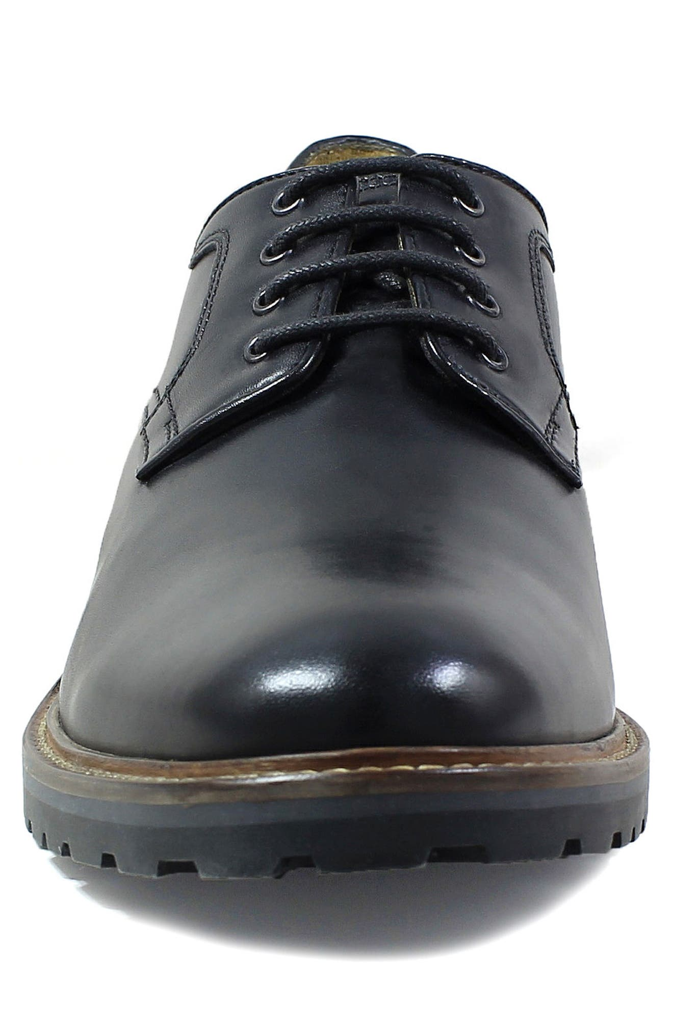 Estabrook Plain Toe Derby,                             Alternate thumbnail 4, color,                             BLACK