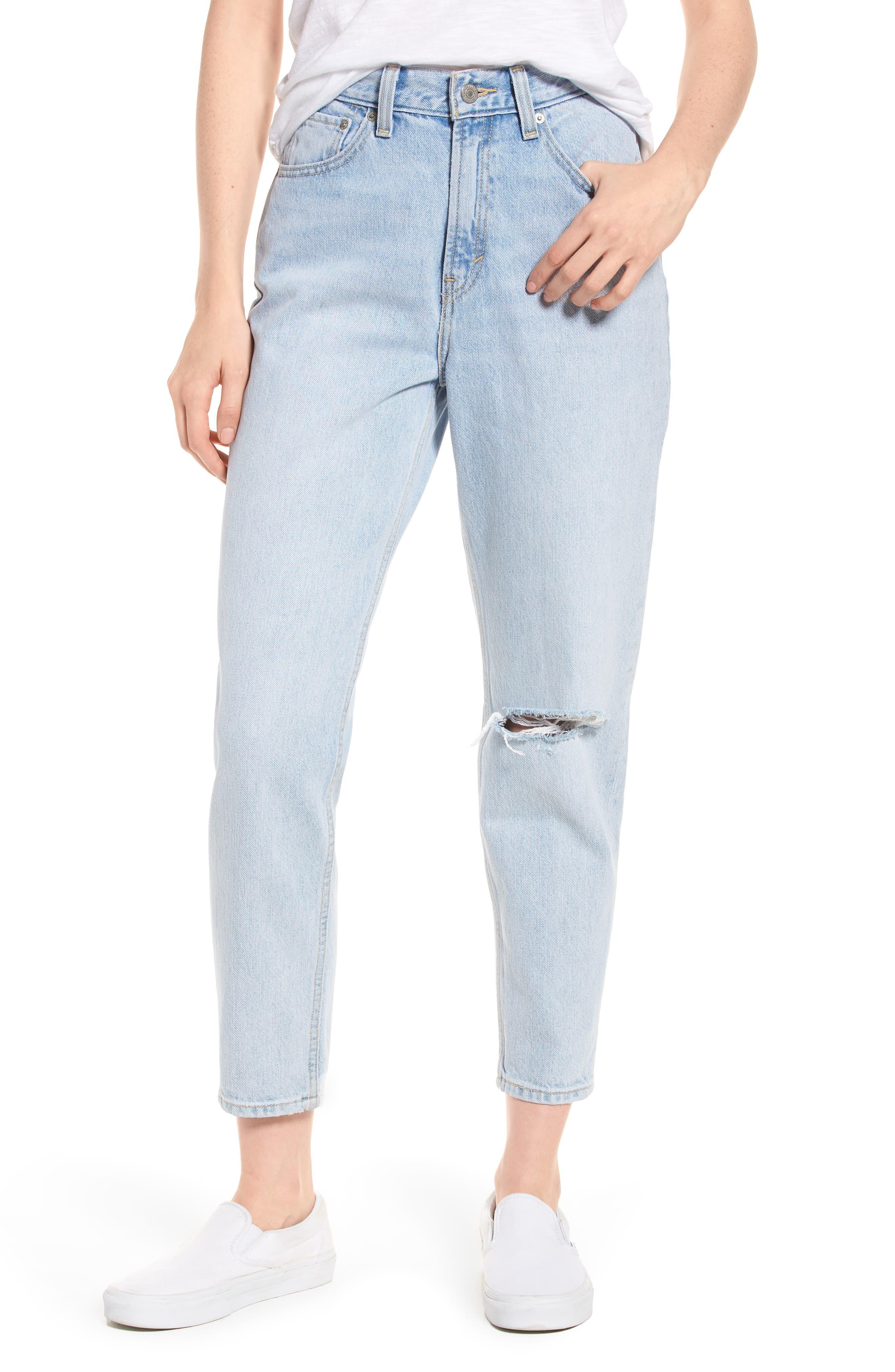 Mom High Waist Jeans,                             Main thumbnail 1, color,                             450