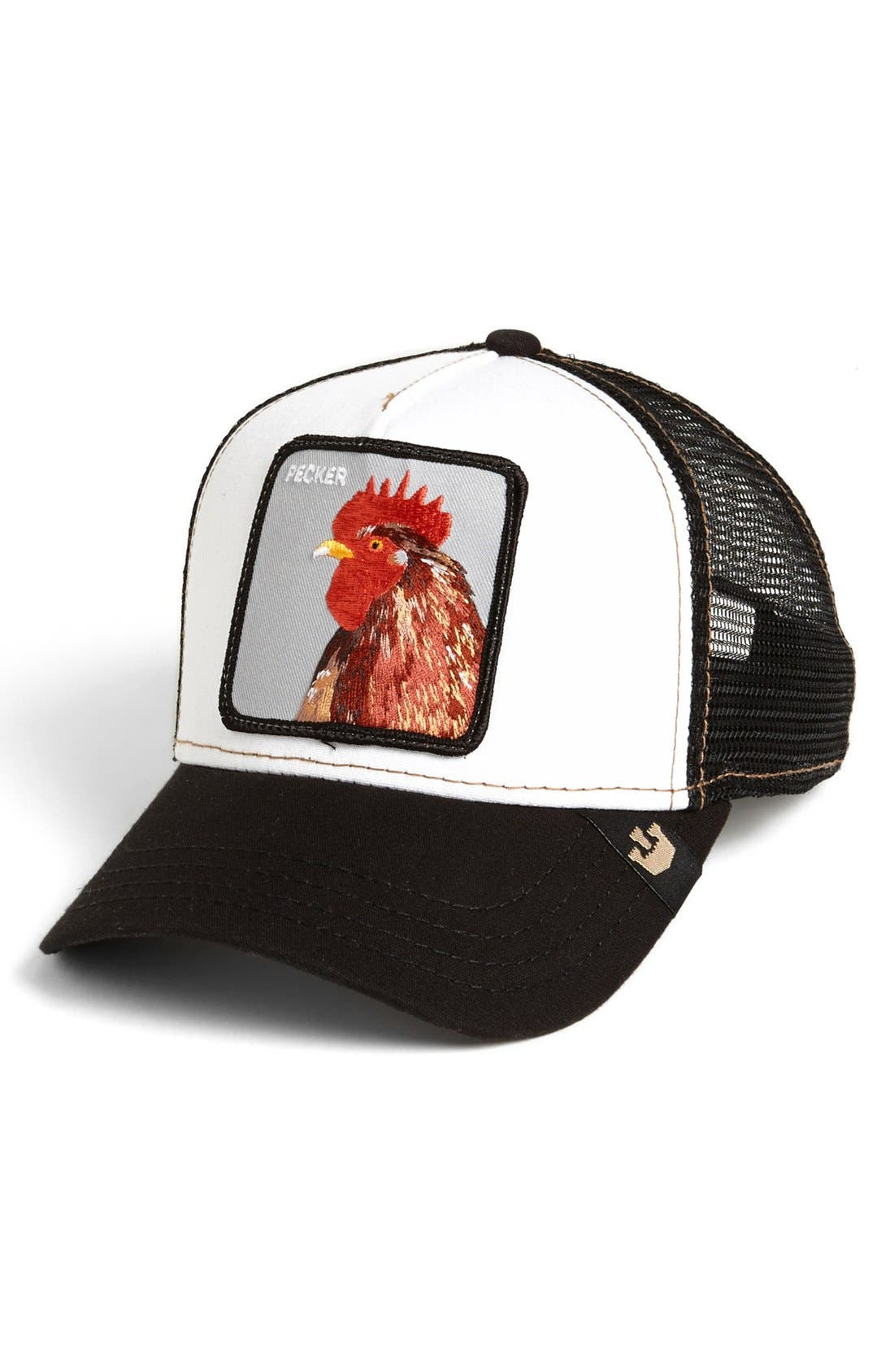 'Chicken' Trucker Cap,                             Main thumbnail 1, color,                             001