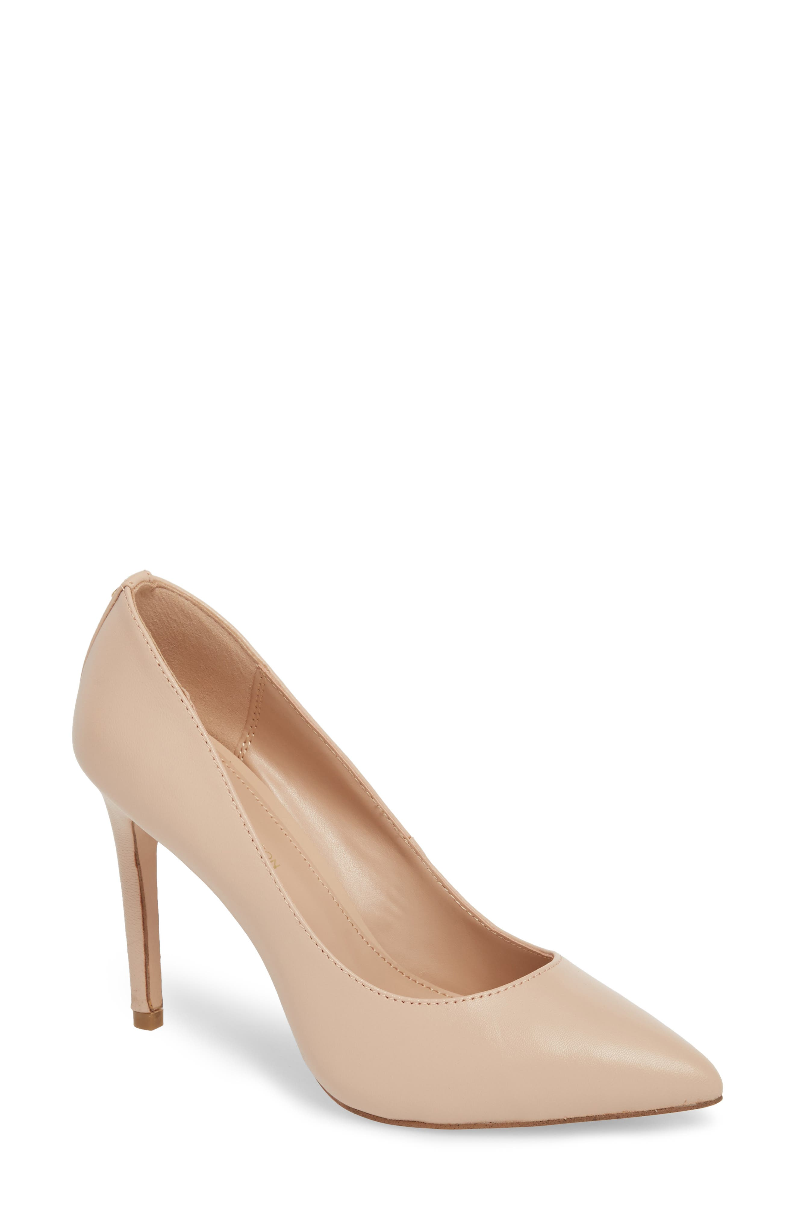 BCBG Heidi Pump, Main, color, SHELL LEATHER