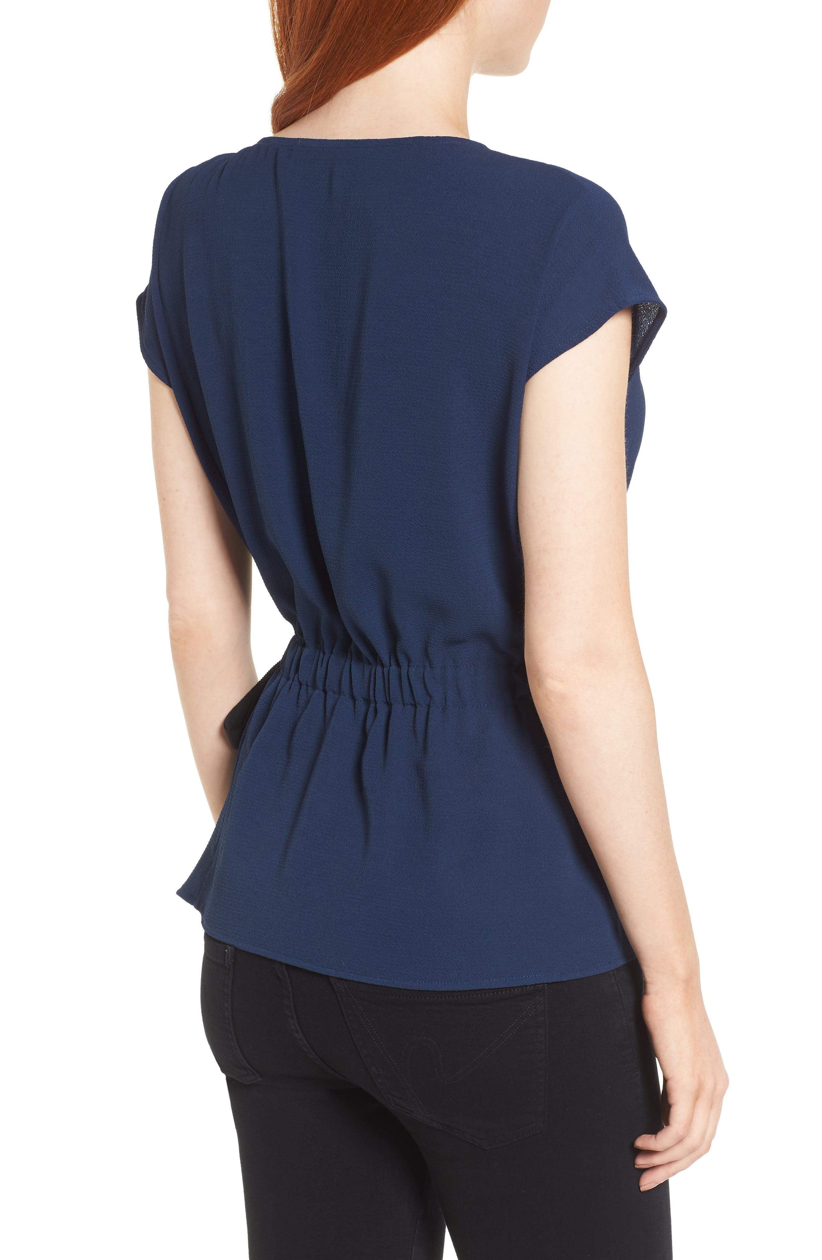 Gathered Waist Side Tie Top,                             Alternate thumbnail 9, color,