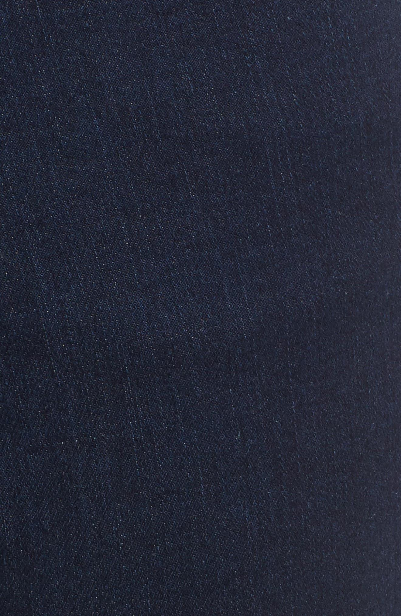 Peri Pull-On Straight Leg Jeans,                             Alternate thumbnail 5, color,                             DARK INDIGO