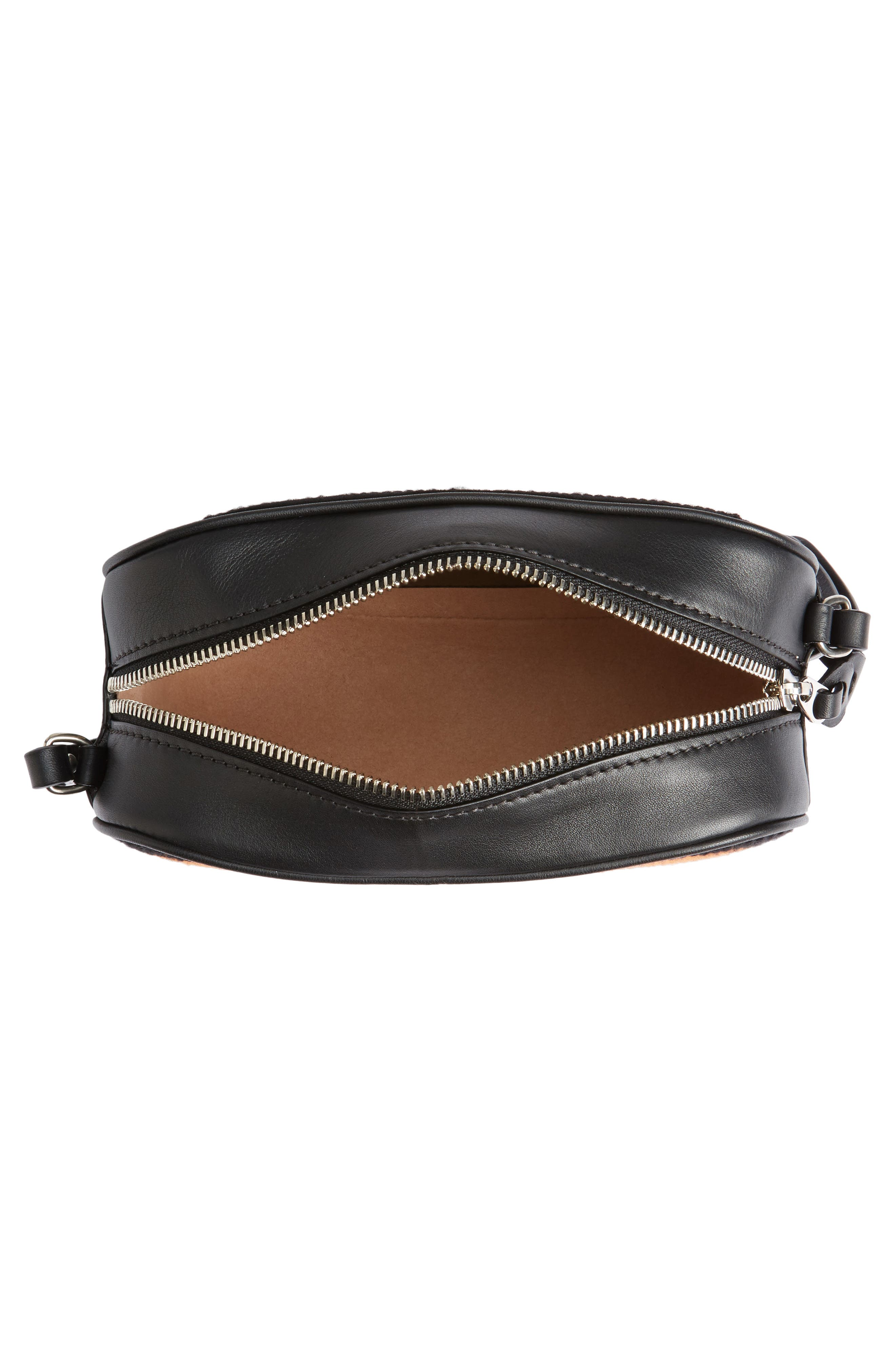 Small Embroidered Leather Camera Bag,                             Alternate thumbnail 4, color,                             998