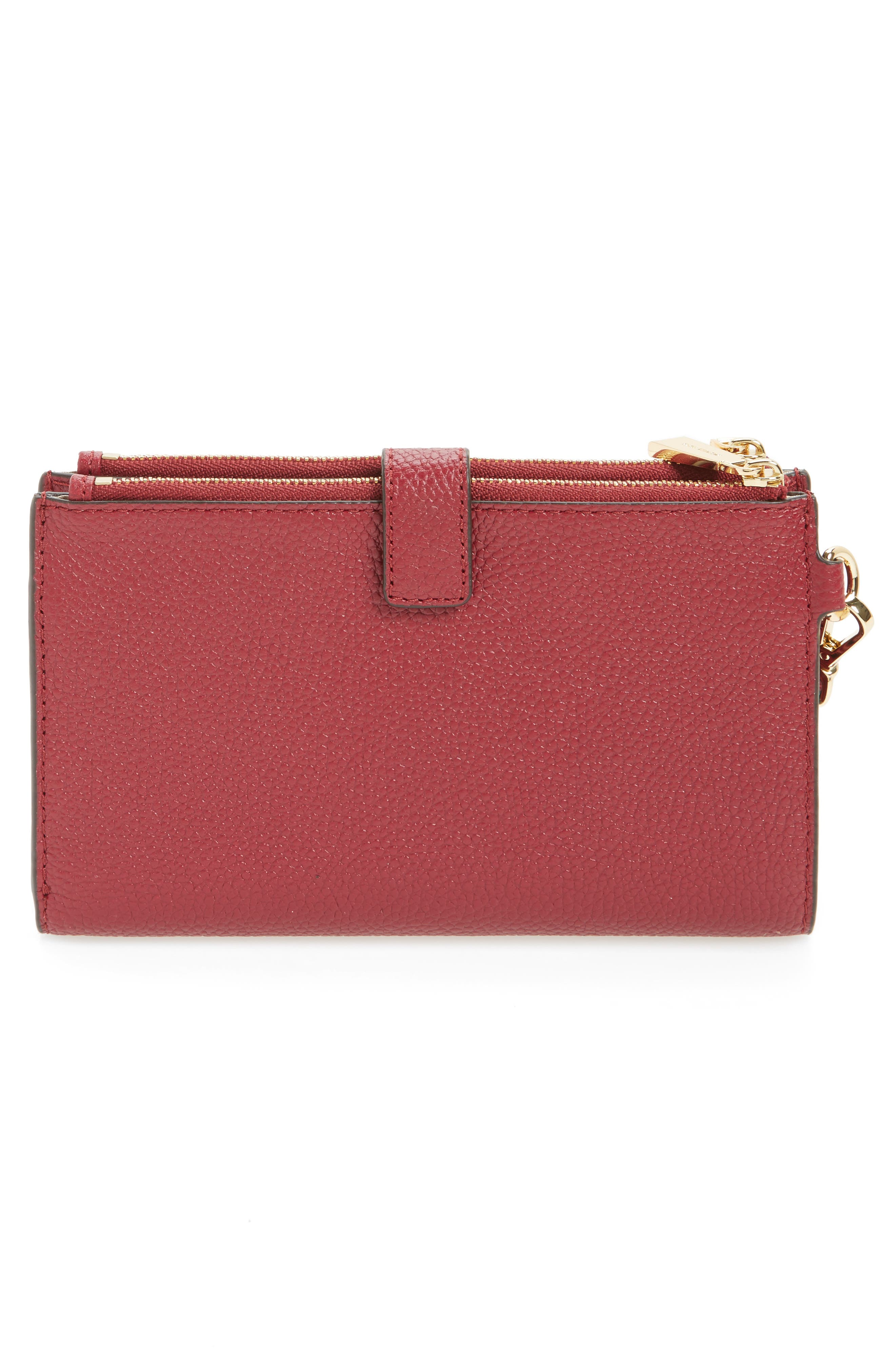 Adele Leather Wristlet,                             Alternate thumbnail 23, color,