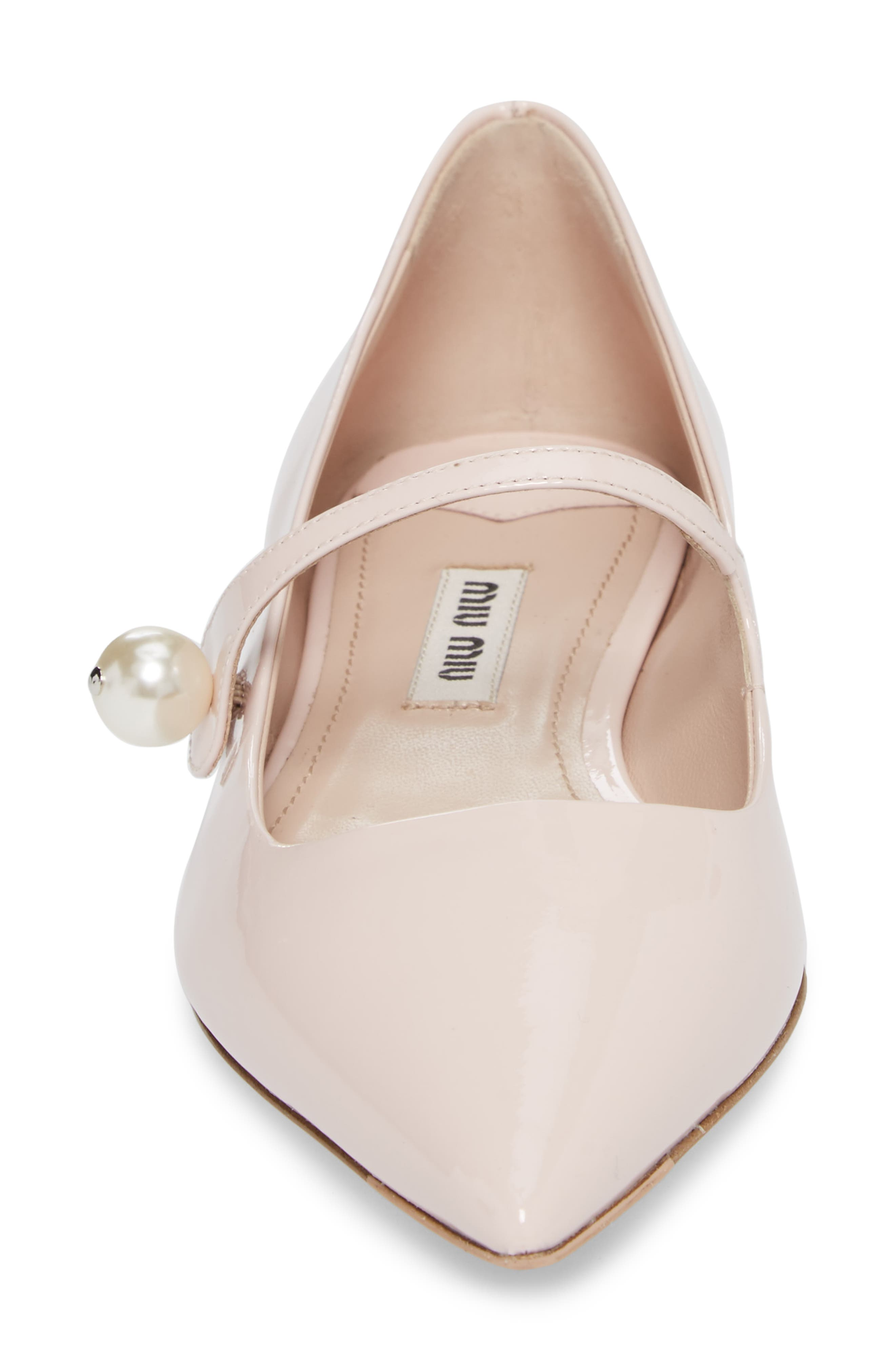 Pearl Mary Jane Flat,                             Alternate thumbnail 4, color,                             LIGHT PINK