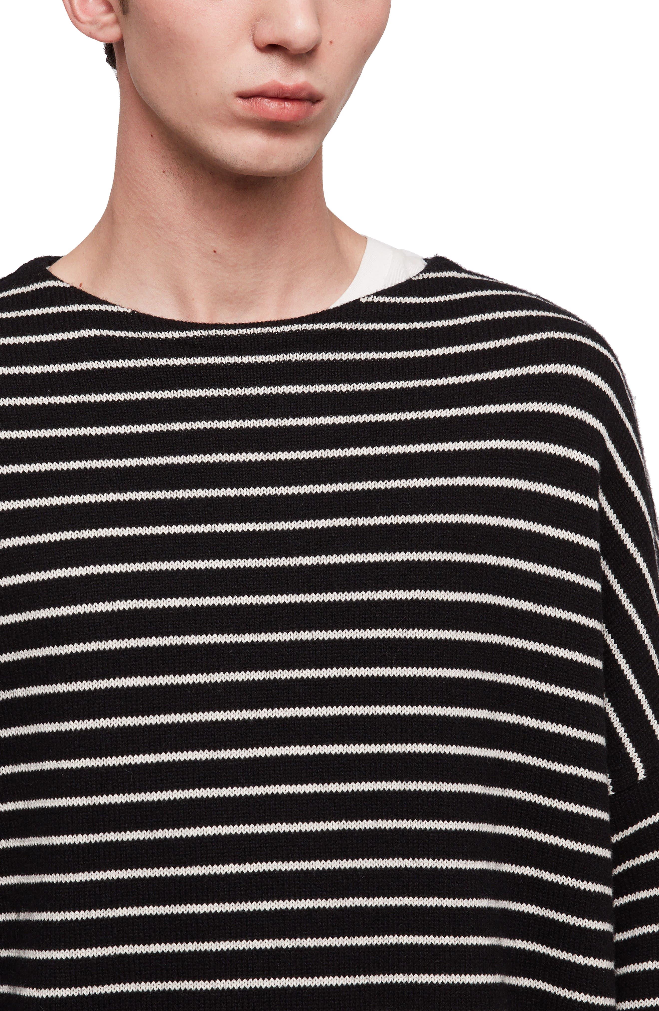 ALLSAINTS,                             Marty Stripe Crewneck Sweater,                             Alternate thumbnail 3, color,                             016