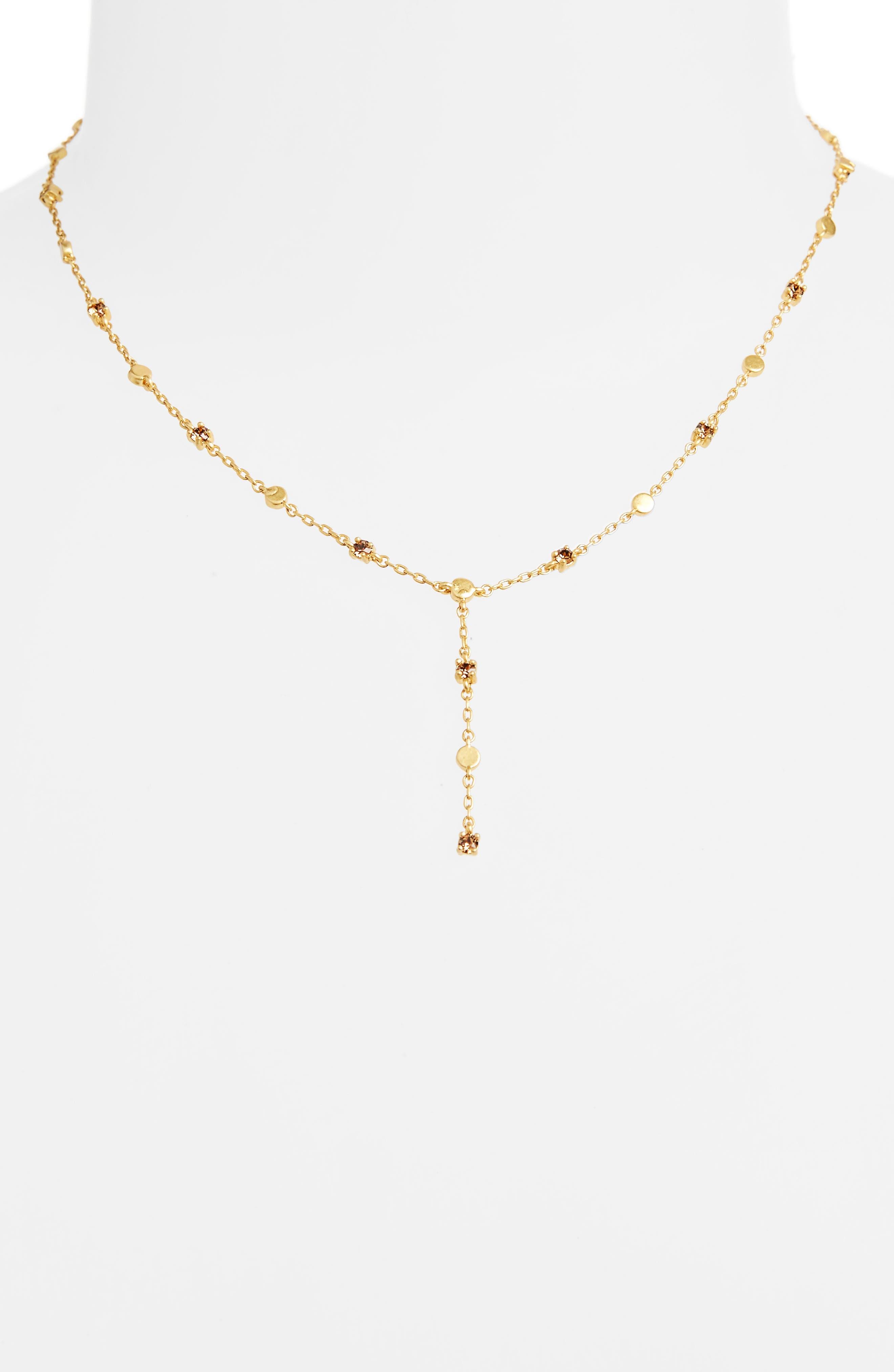 Gem Line Lariat Necklace,                             Alternate thumbnail 2, color,                             710