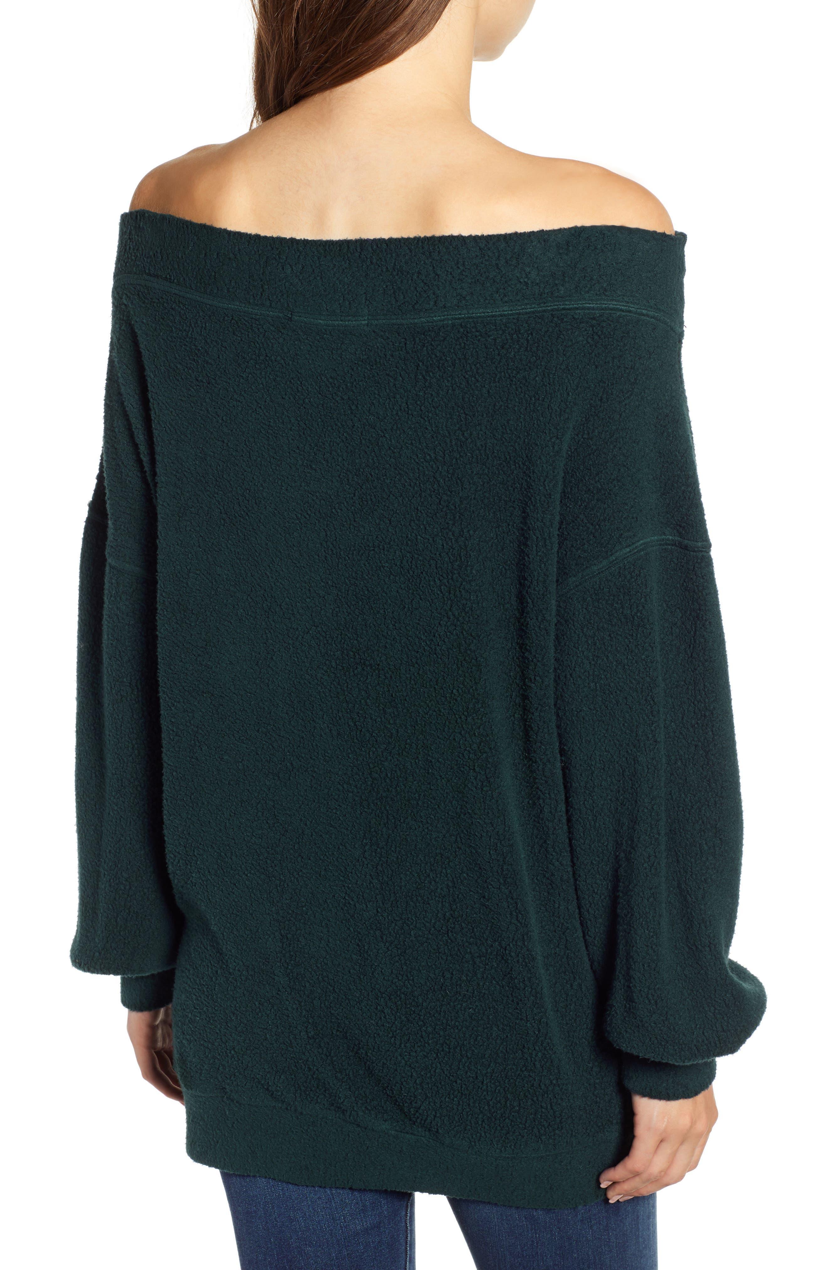 Off the Shoulder Fleece Sweatshirt,                             Alternate thumbnail 2, color,                             300