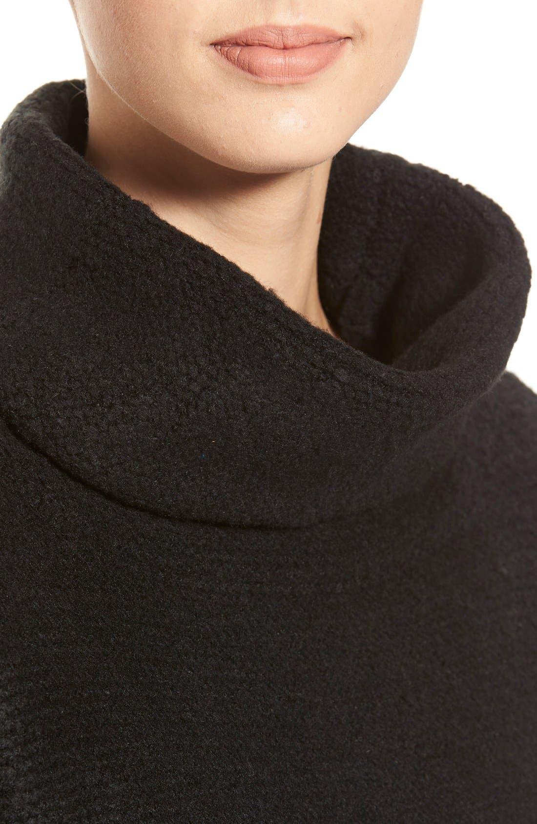 Boxy Turtleneck Sweater,                             Alternate thumbnail 3, color,                             001
