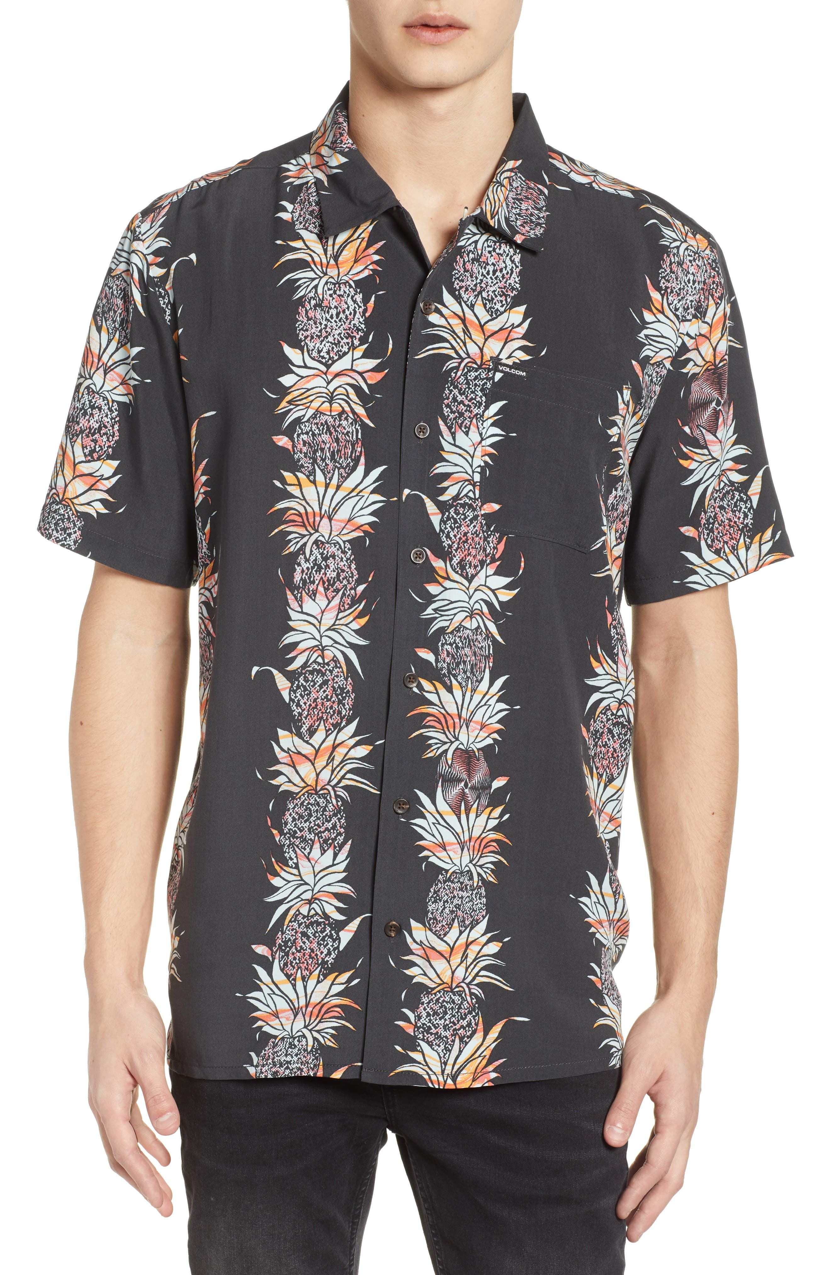 Palm Glitch Woven Shirt,                         Main,                         color,