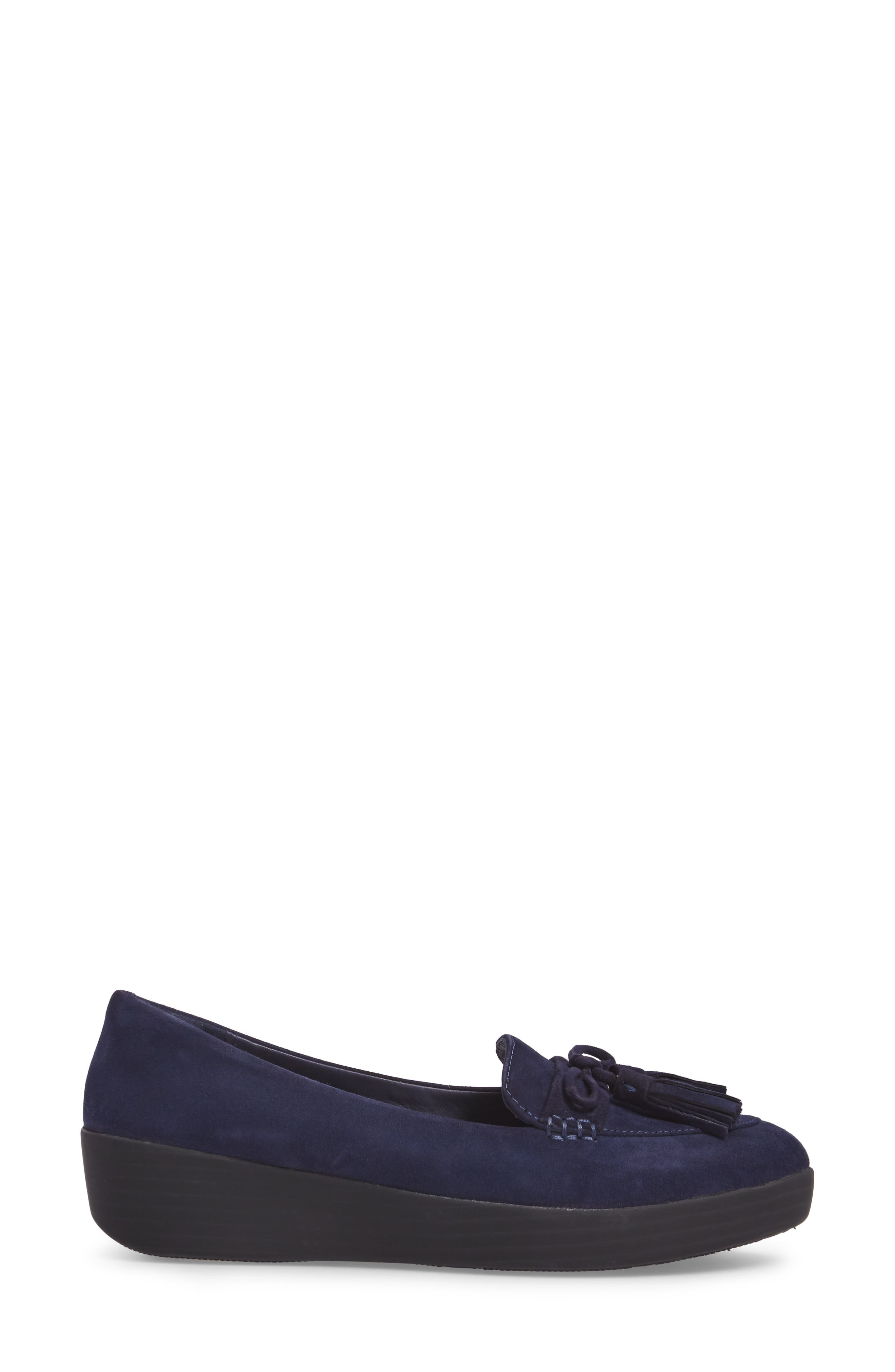 Tassel Bow Sneakerloafer<sup>™</sup> Water Repellent Flat,                             Alternate thumbnail 11, color,