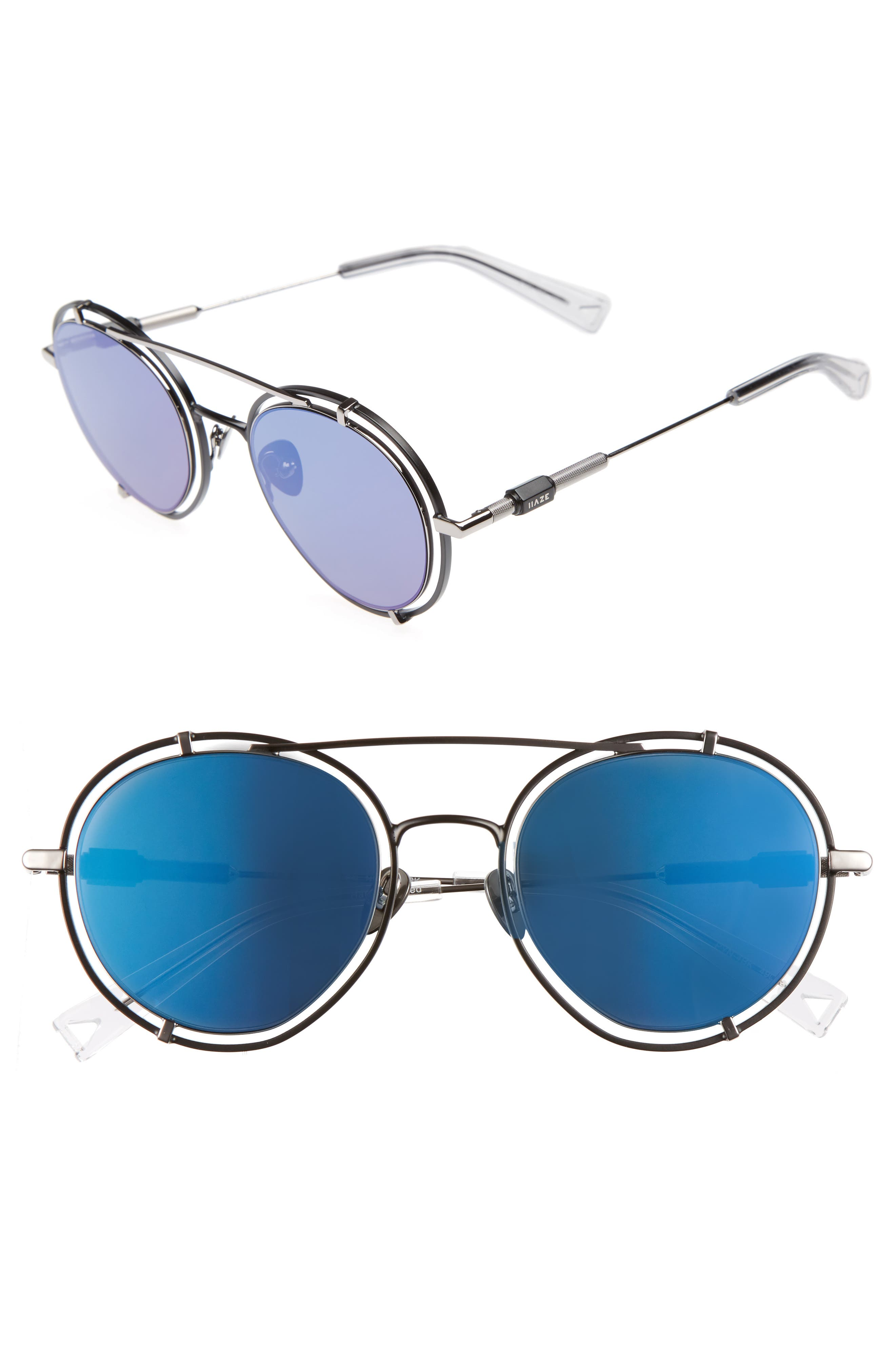 Pyn 55mm Mirrored Sunglasses,                             Main thumbnail 1, color,                             001