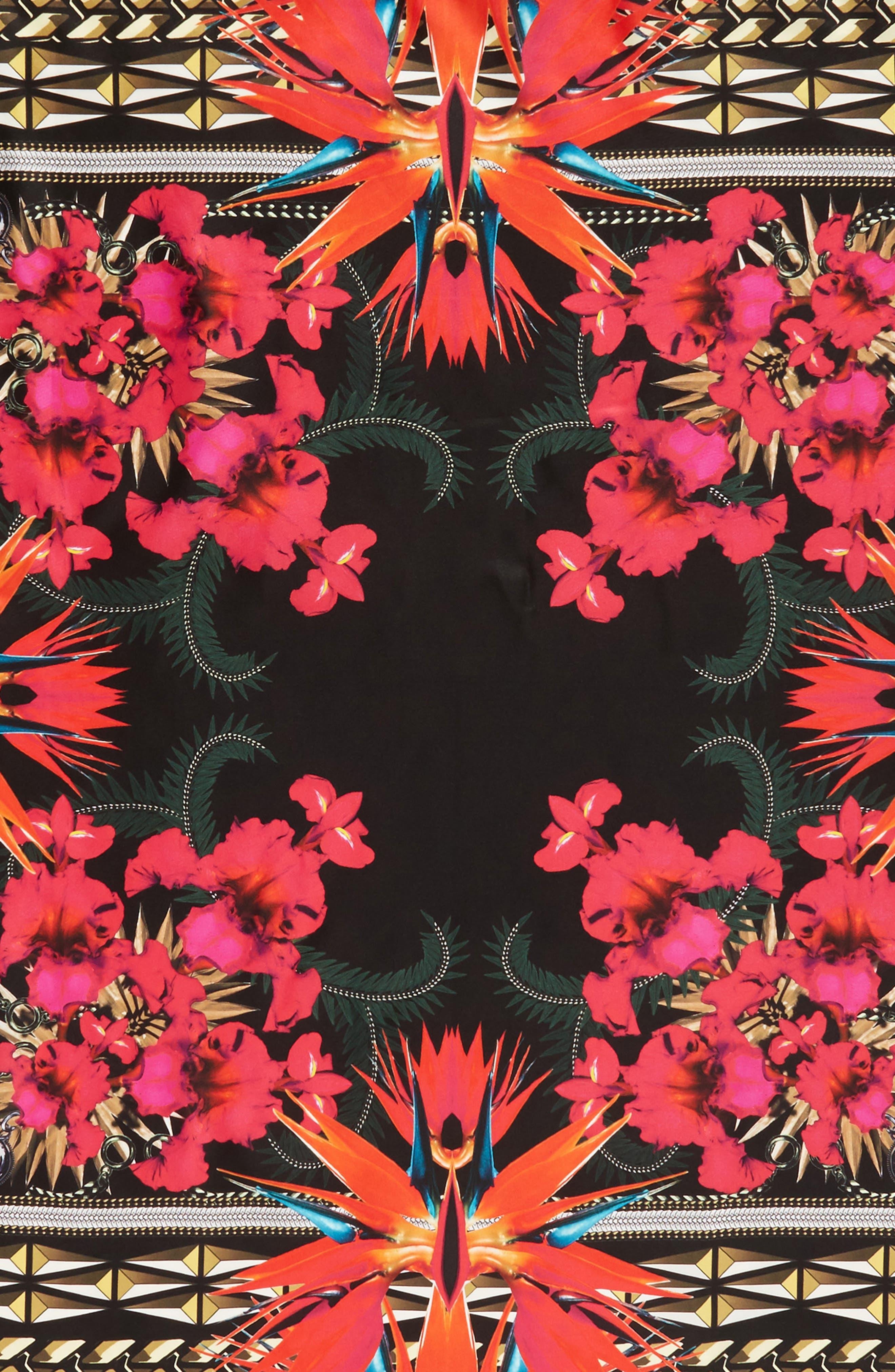 Iris Silk Twill Square Scarf,                             Alternate thumbnail 7, color,