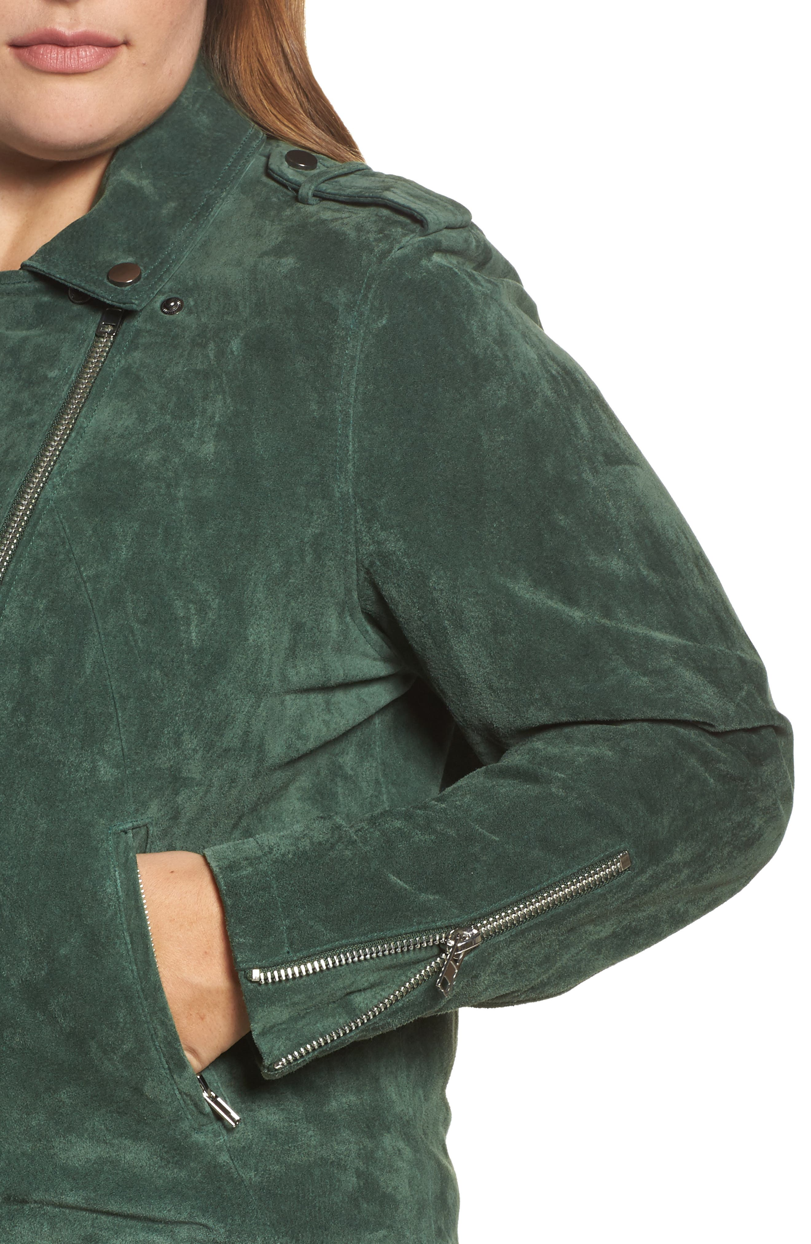 Suede Moto Jacket,                             Alternate thumbnail 11, color,