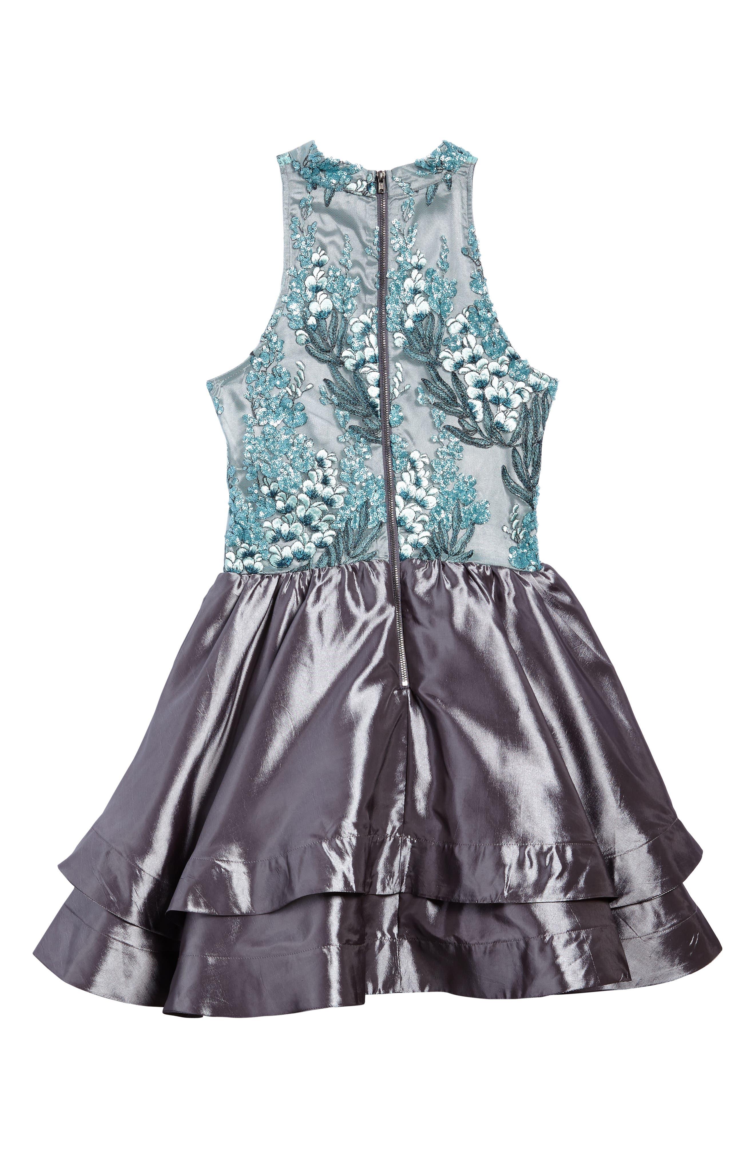 Ruby Sequin Sleeveless Dress,                             Alternate thumbnail 2, color,