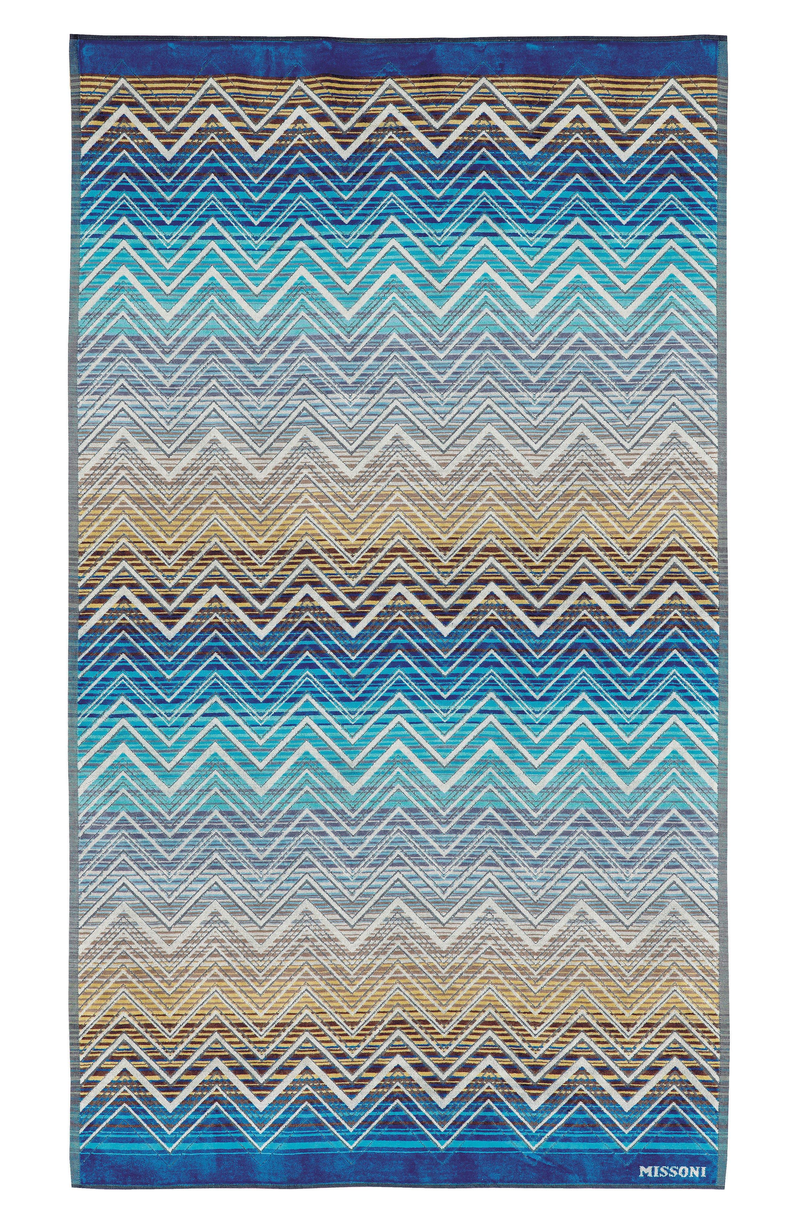 Tolemeo Beach Towel,                             Main thumbnail 1, color,                             MULTI BLUE
