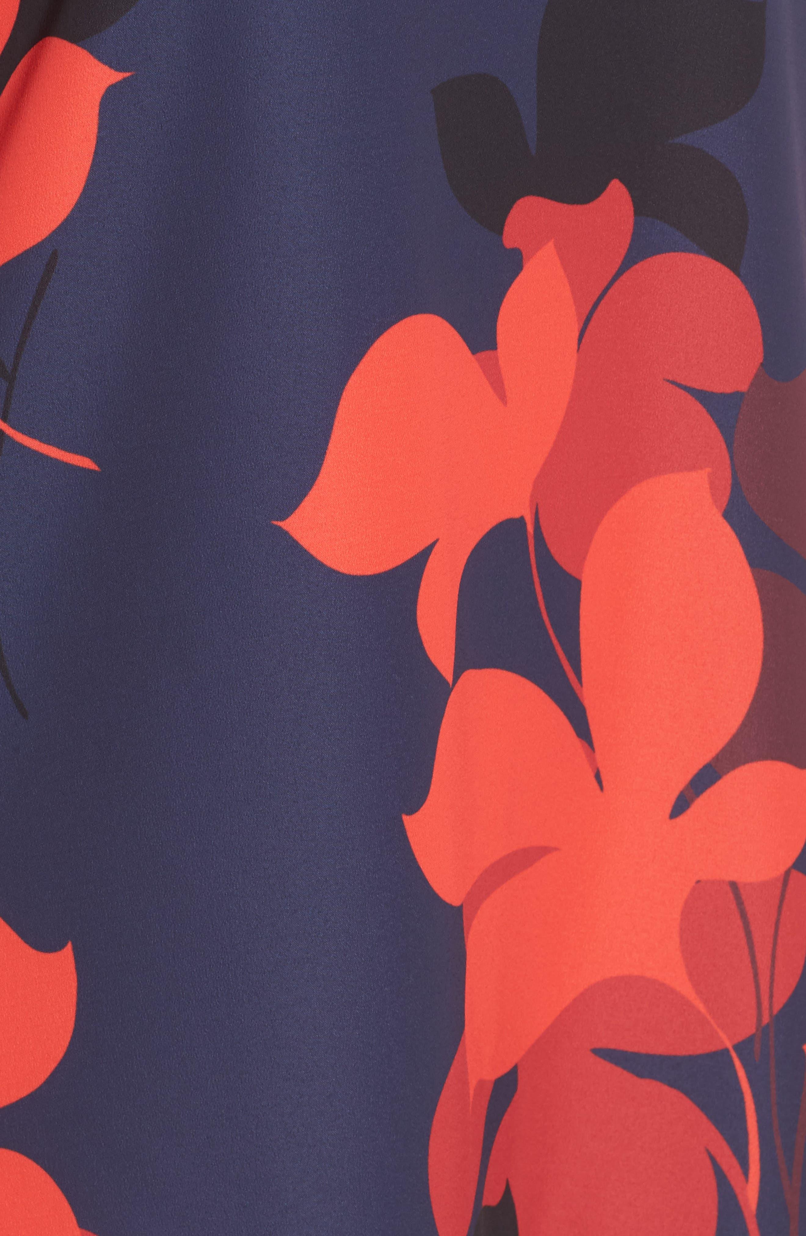 Button Back Ruffle Hem Dress,                             Alternate thumbnail 51, color,