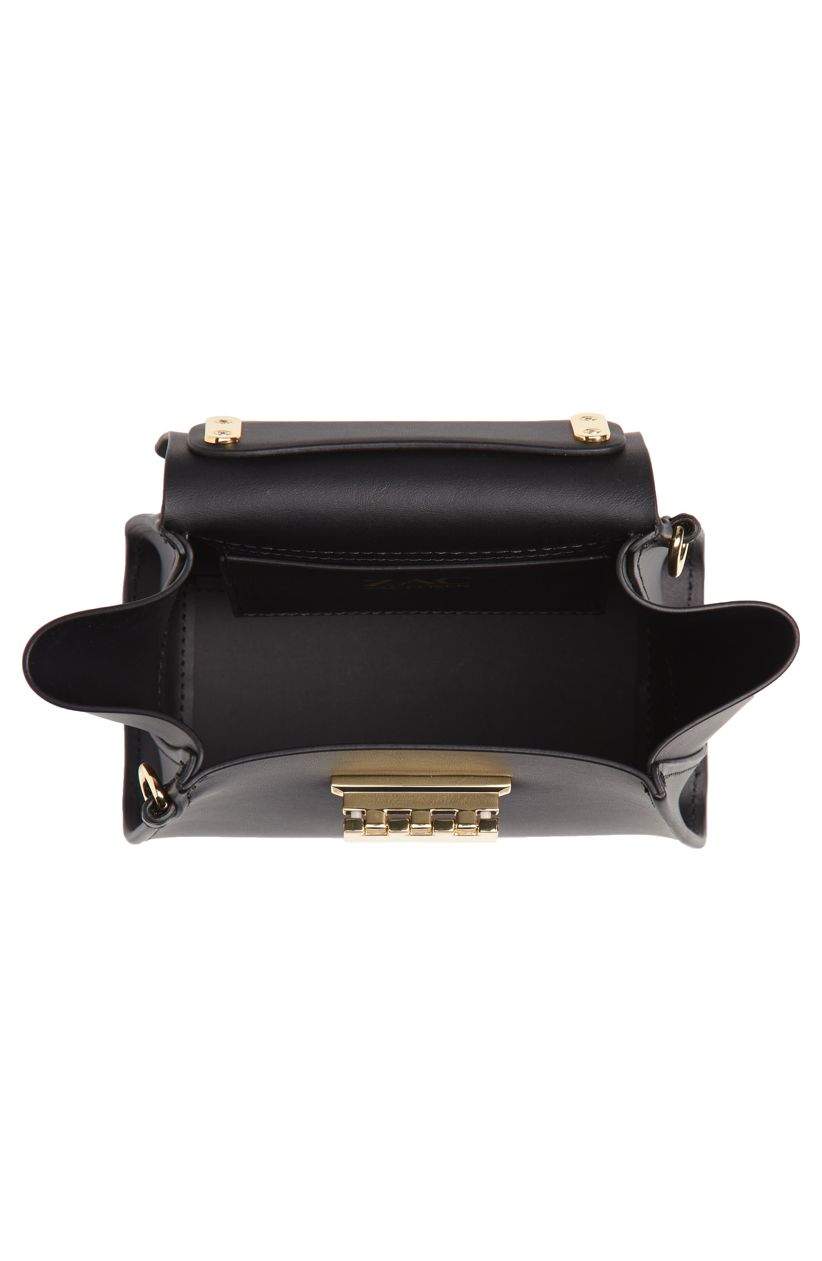 Mini Eartha Iconic Calfskin Leather Top Handle Satchel,                             Alternate thumbnail 4, color,                             BLACK
