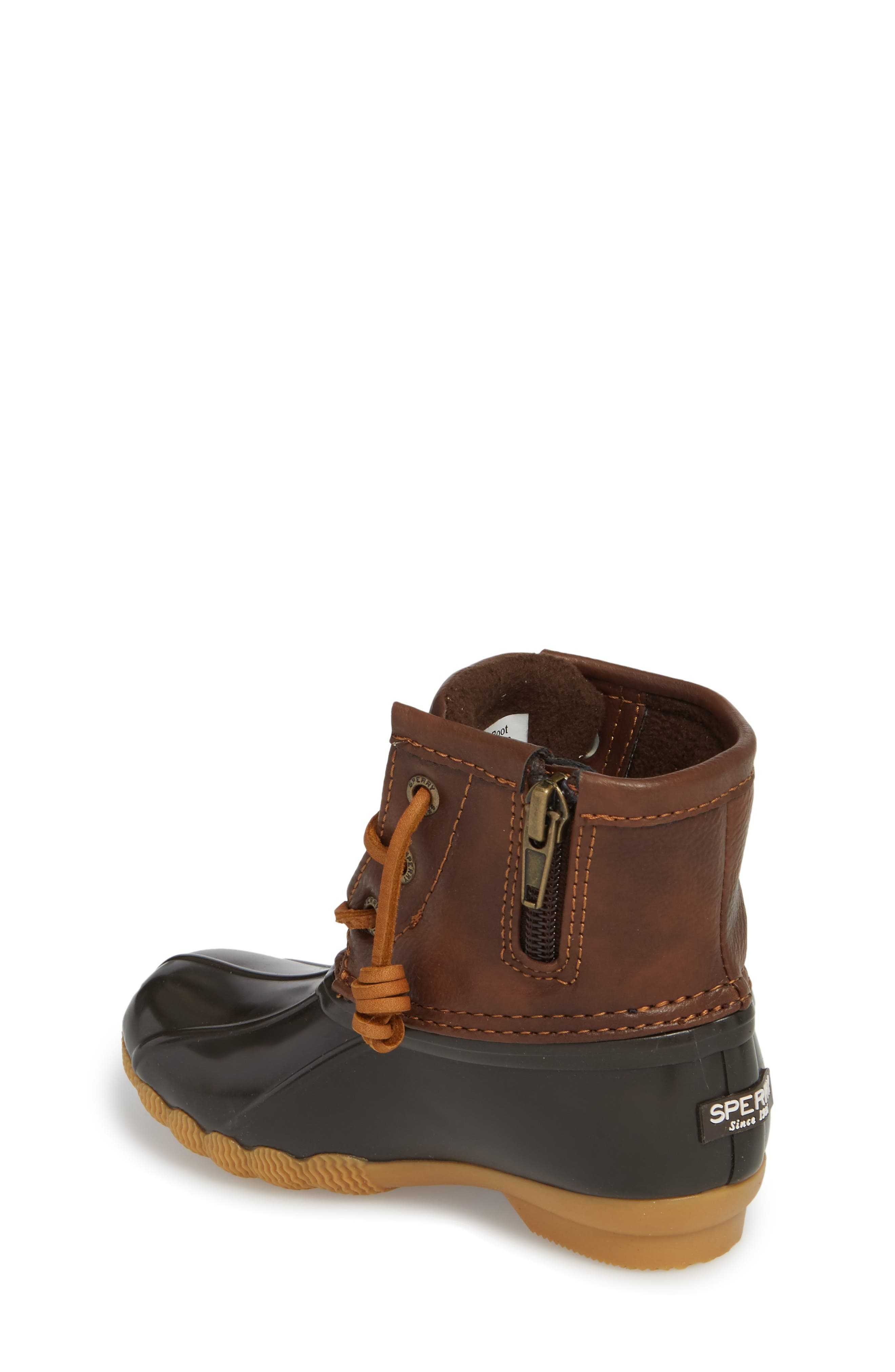 Saltwater Duck Boot,                             Alternate thumbnail 2, color,                             BROWN/ BROWN