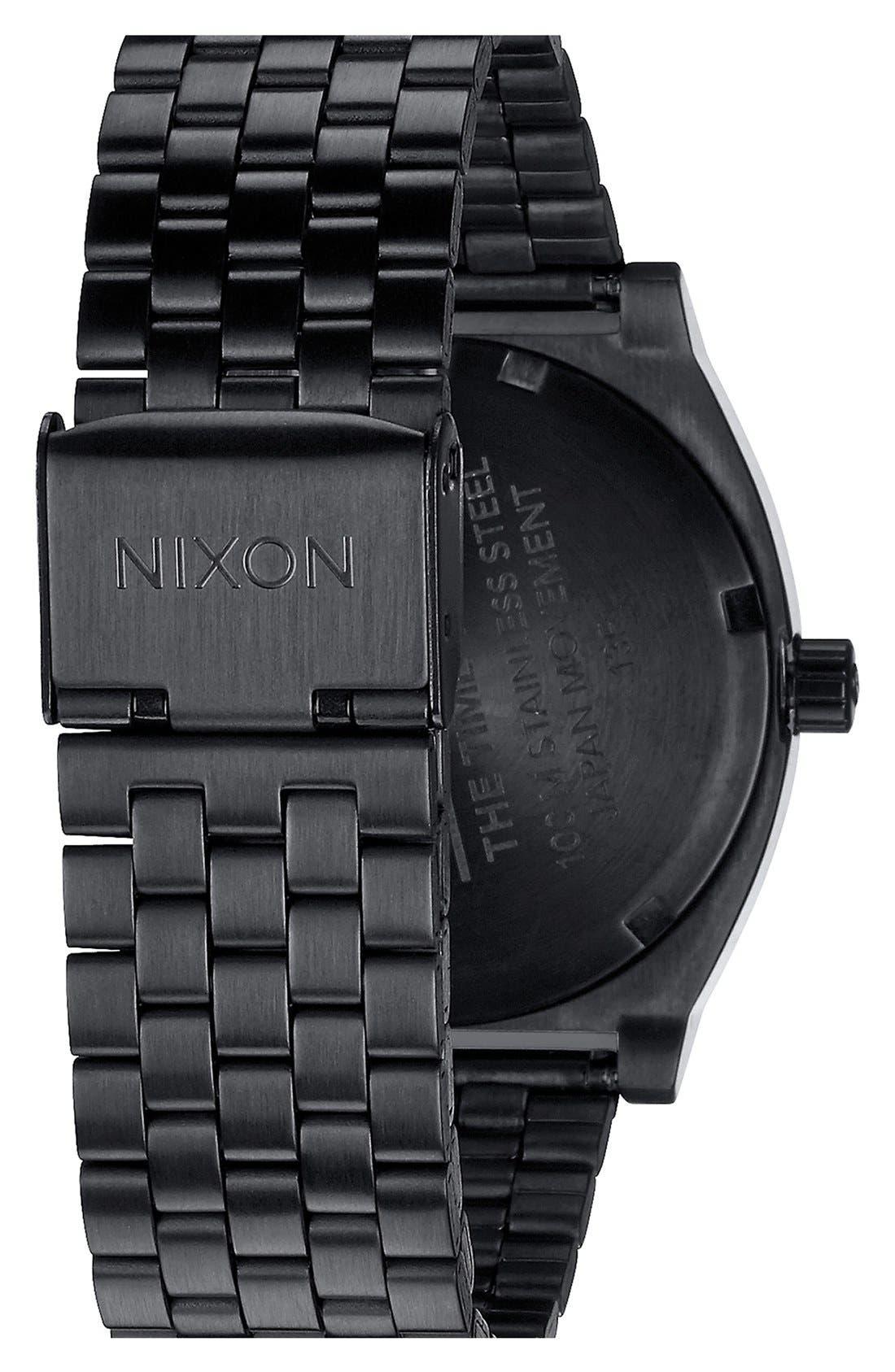 'The Time Teller' Bracelet Watch, 37mm,                             Alternate thumbnail 2, color,                             BLACK