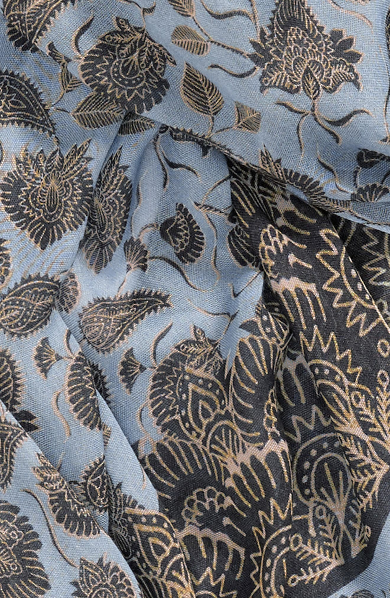 Lotus Paisley Oblong Scarf,                             Alternate thumbnail 4, color,                             420
