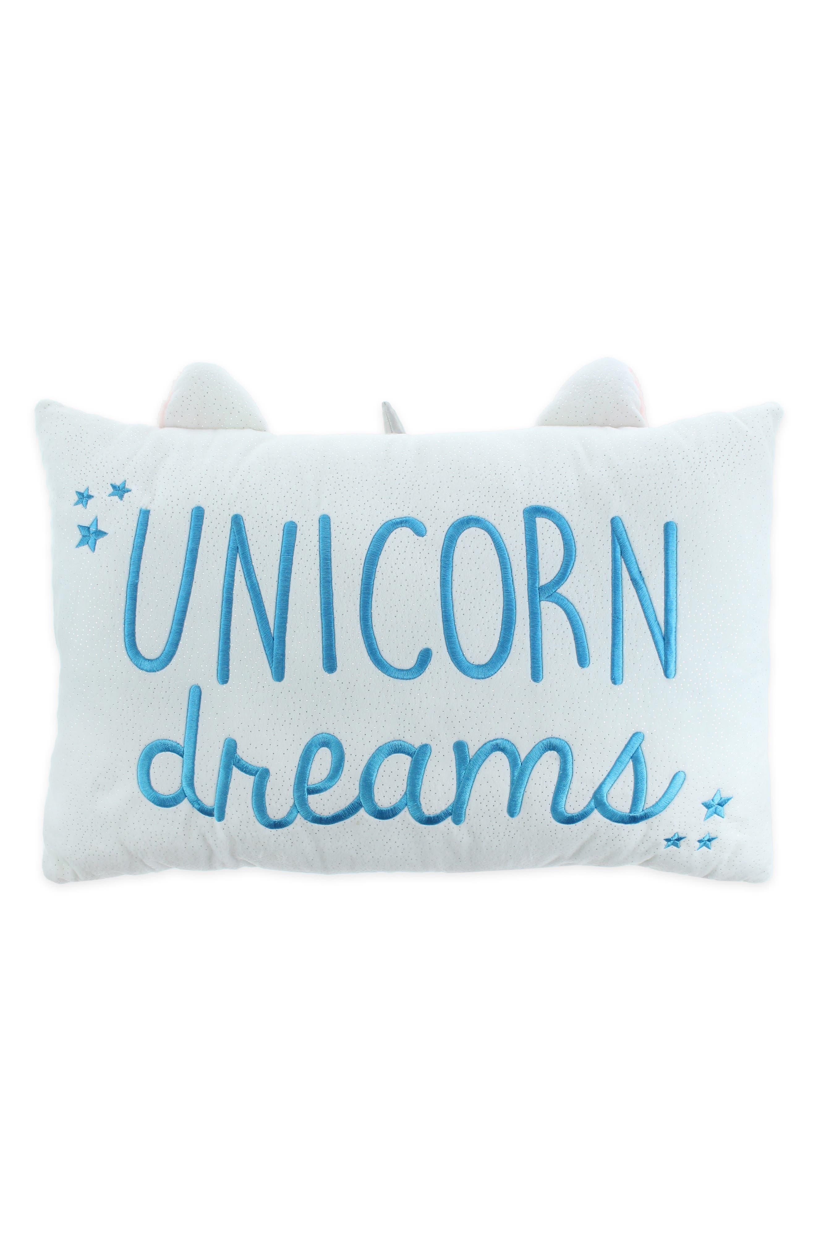 Unicorn Pillow,                             Alternate thumbnail 2, color,                             WHITE COMBO
