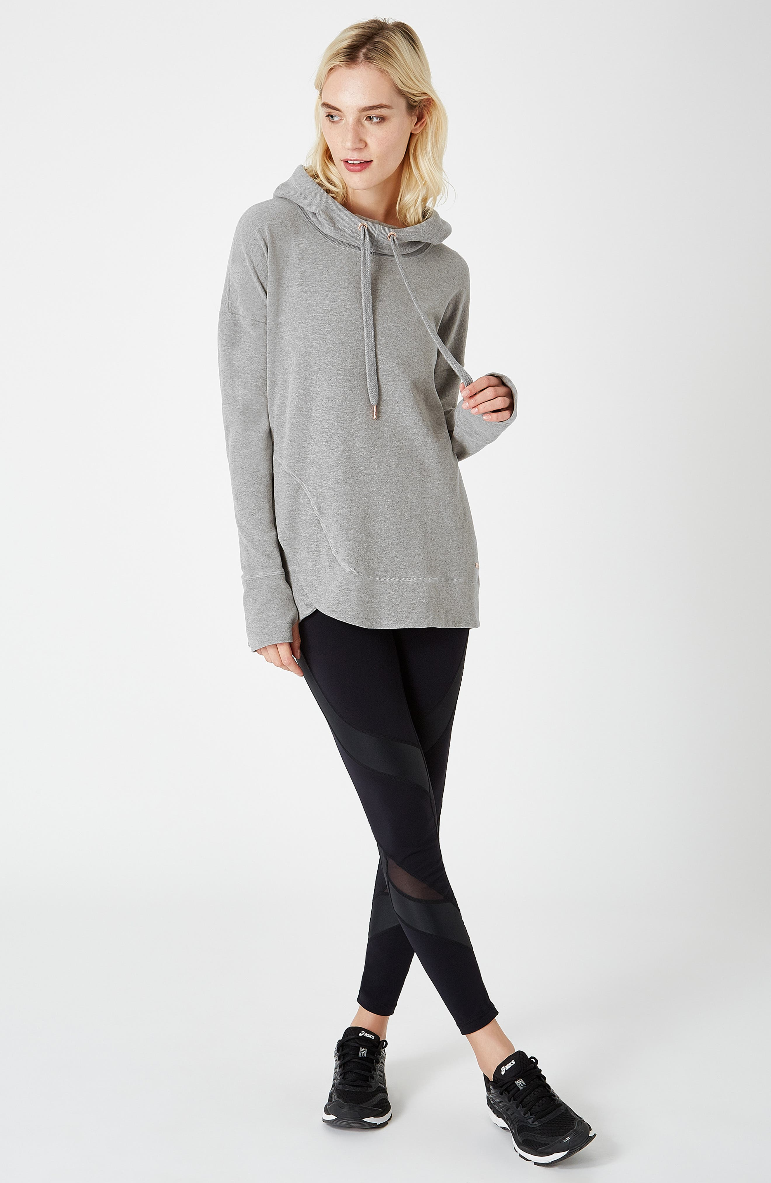 Invigorate Luxe Hoodie,                             Alternate thumbnail 7, color,                             LIGHT GREY MARL