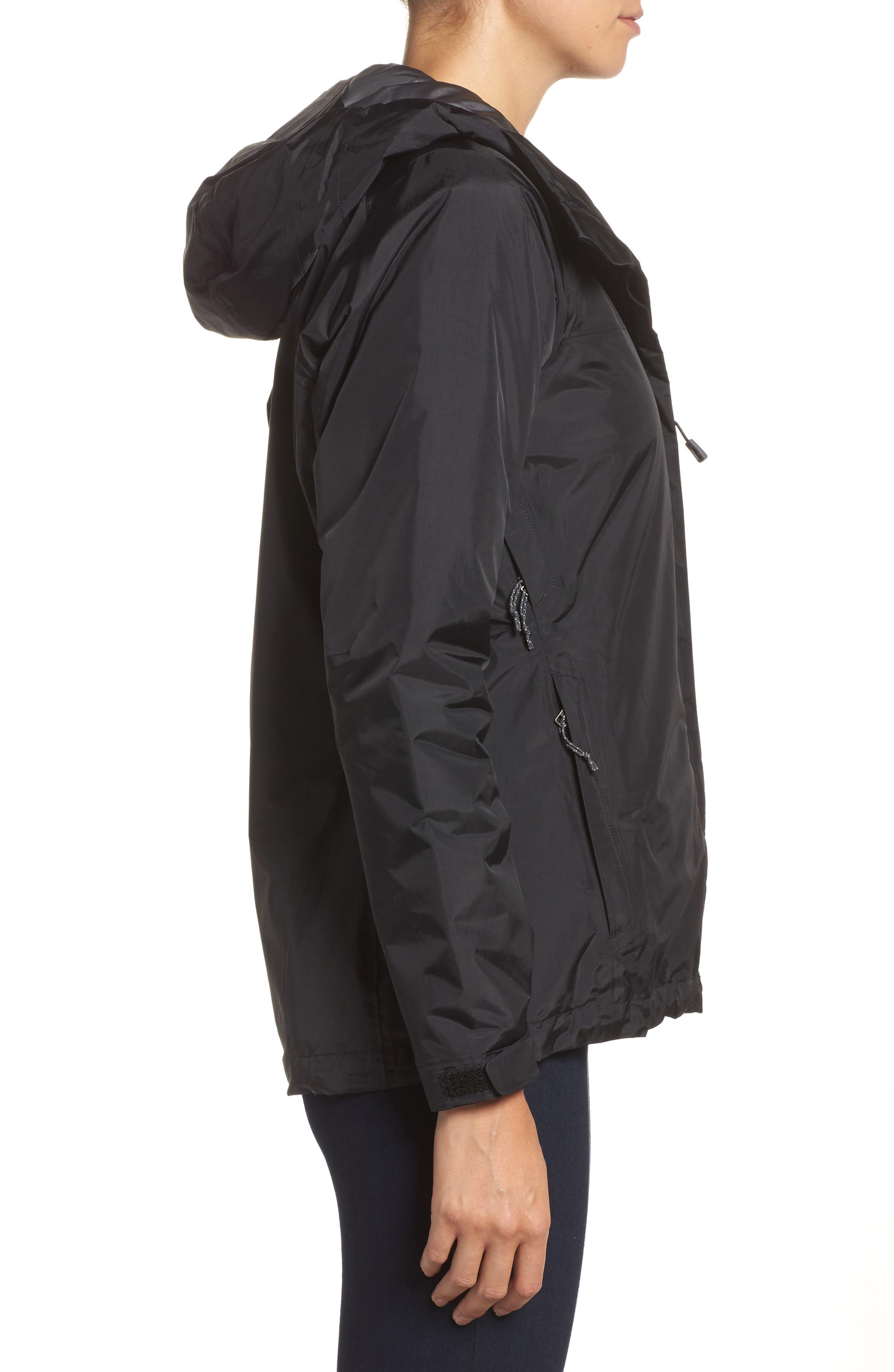 Torrentshell Packable Waterproof Insulated Jacket,                             Alternate thumbnail 3, color,                             BLACK